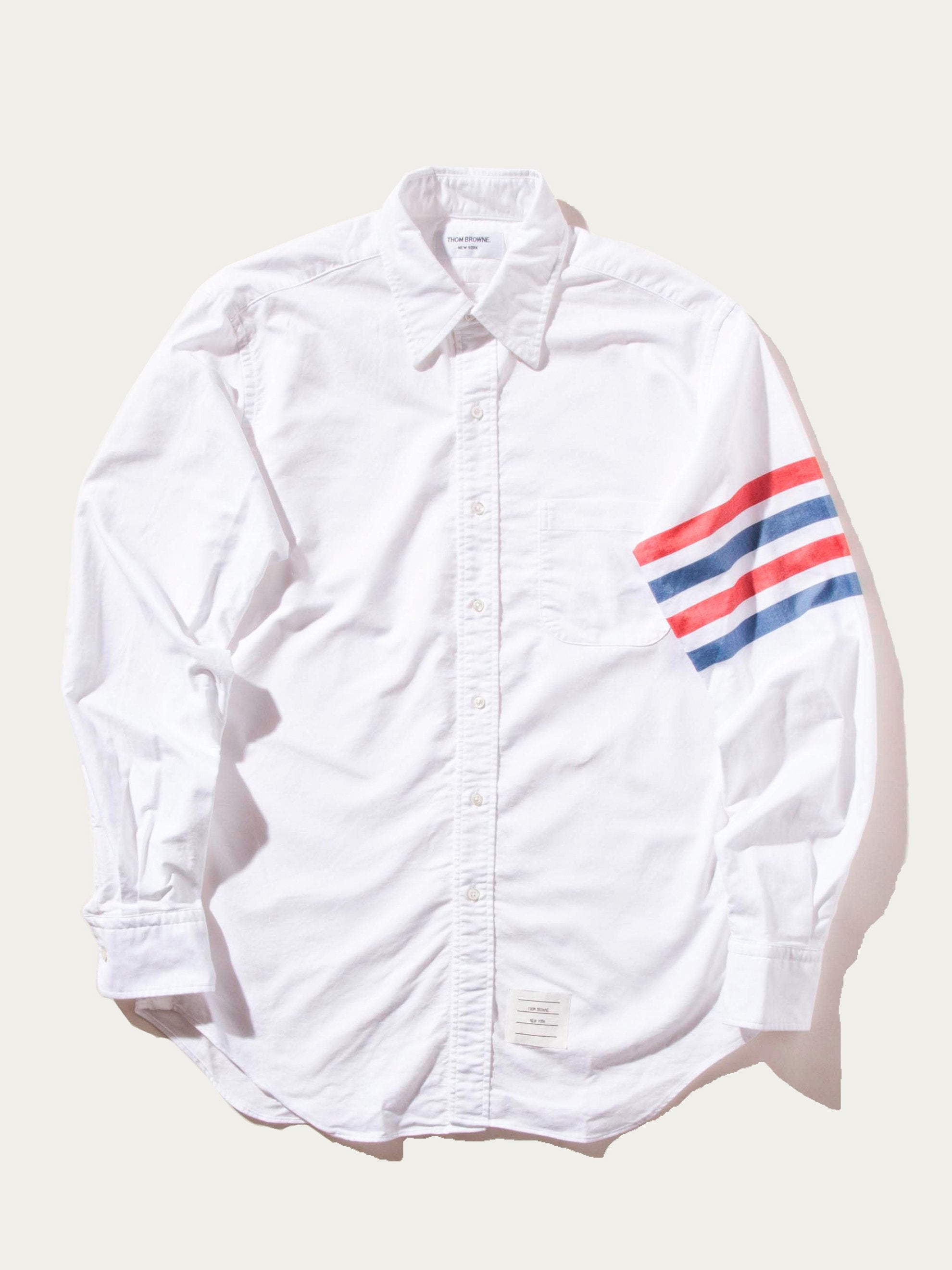 RWB White Classic LS BD Point Collar Shirt (Woven 4 Bar) 1