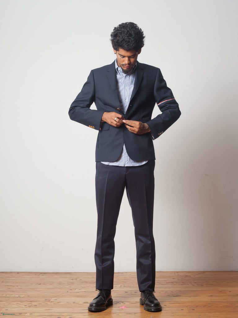 Navy Classic SB S/C (RWB Selvedge Placement in School Uniform Twill) 322050975241