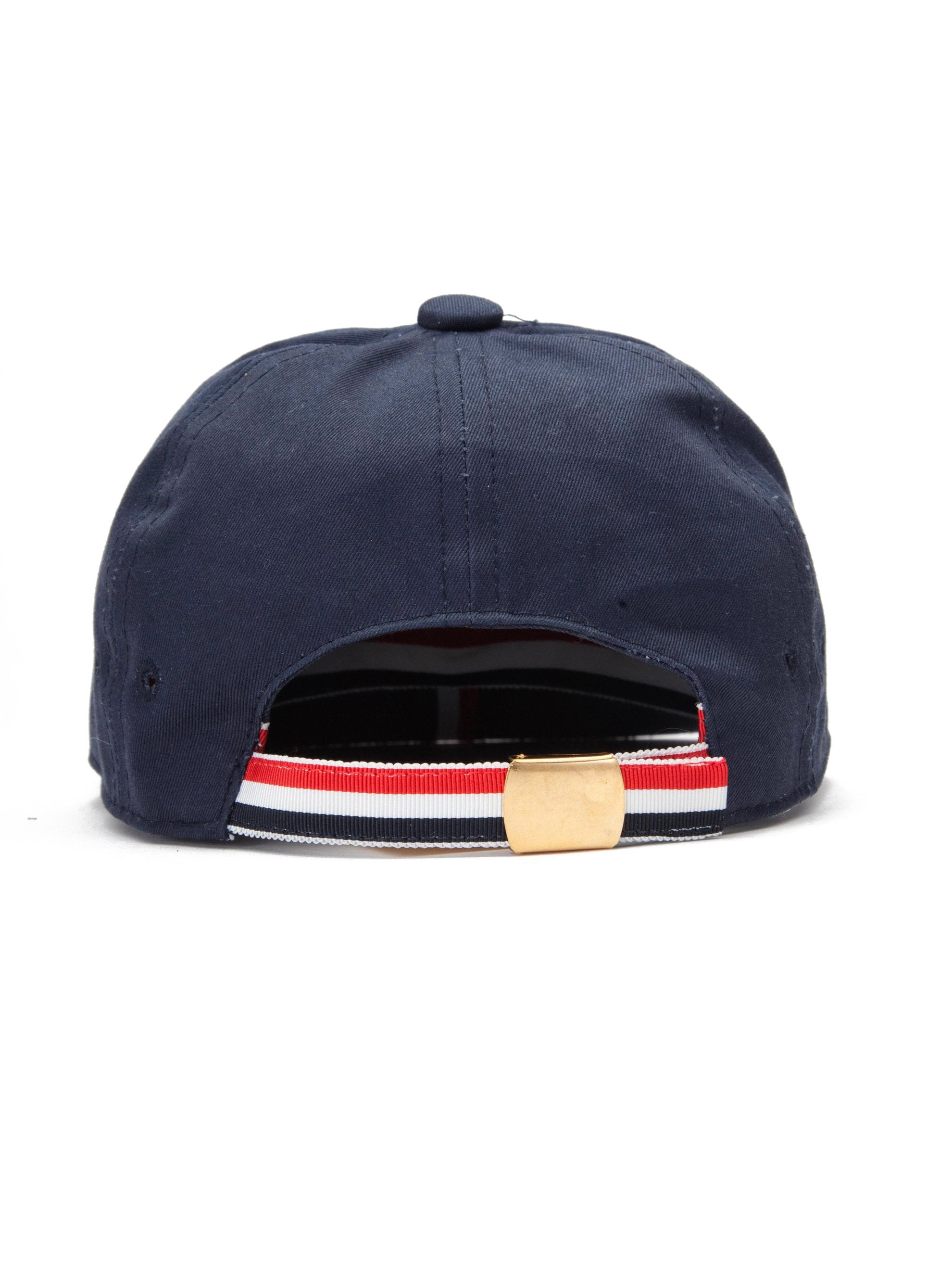 Navy 6-Panel Baseball Cap (RWB Seam Tape/Cotton Twill) 3