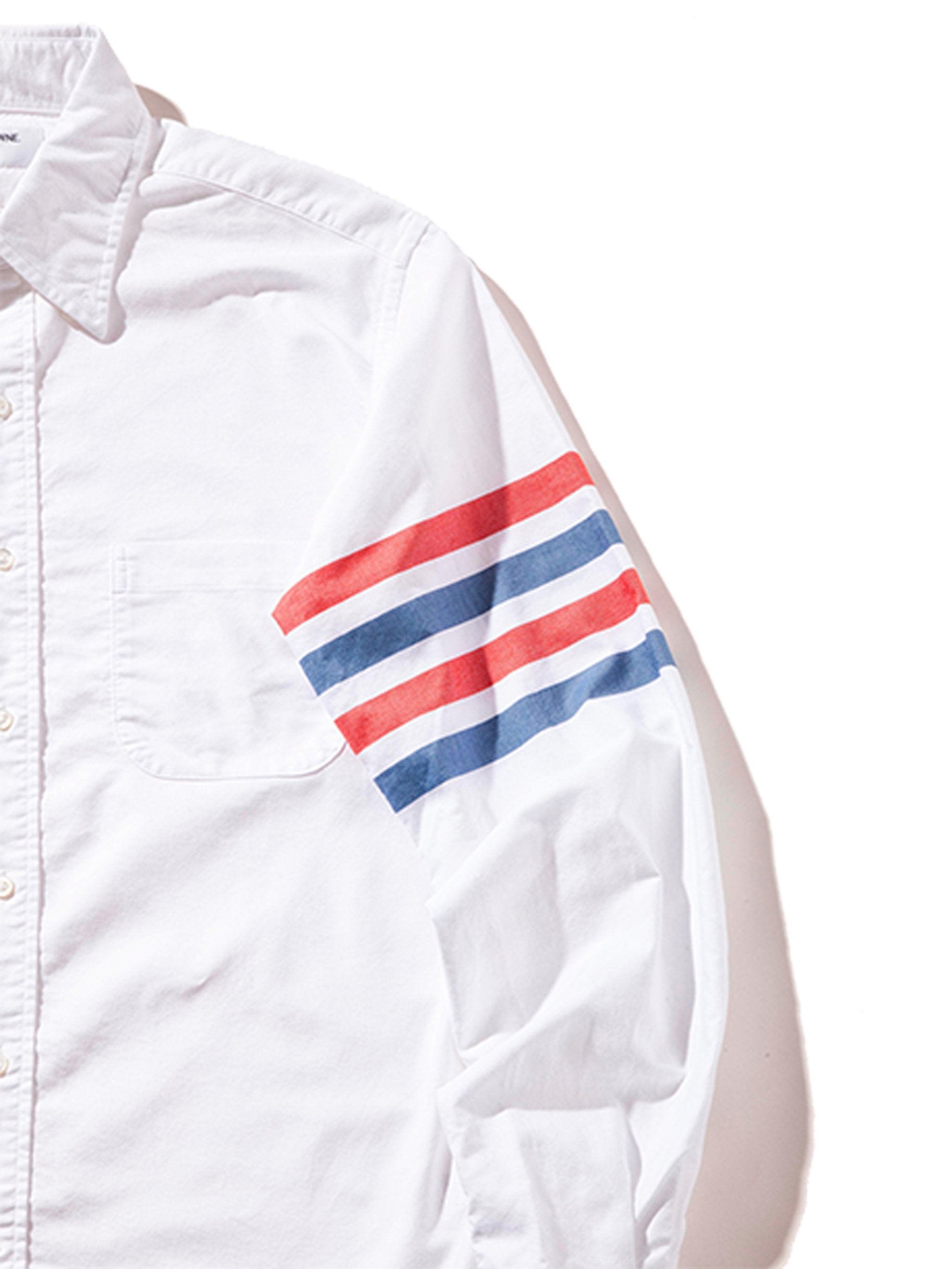RWB White Classic LS BD Point Collar Shirt (Woven 4 Bar) 7