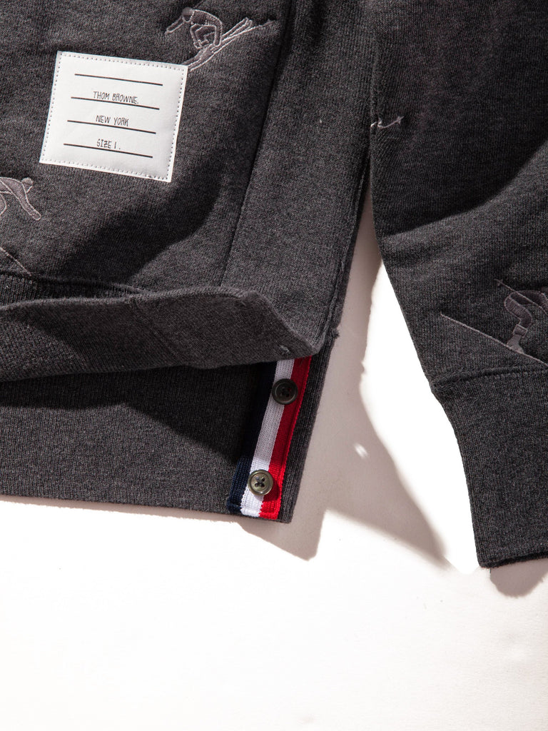 Dark Grey Classic Sweatshirt (Quilted Classic Loopback/Skier Icon Embroidery) 722719291657