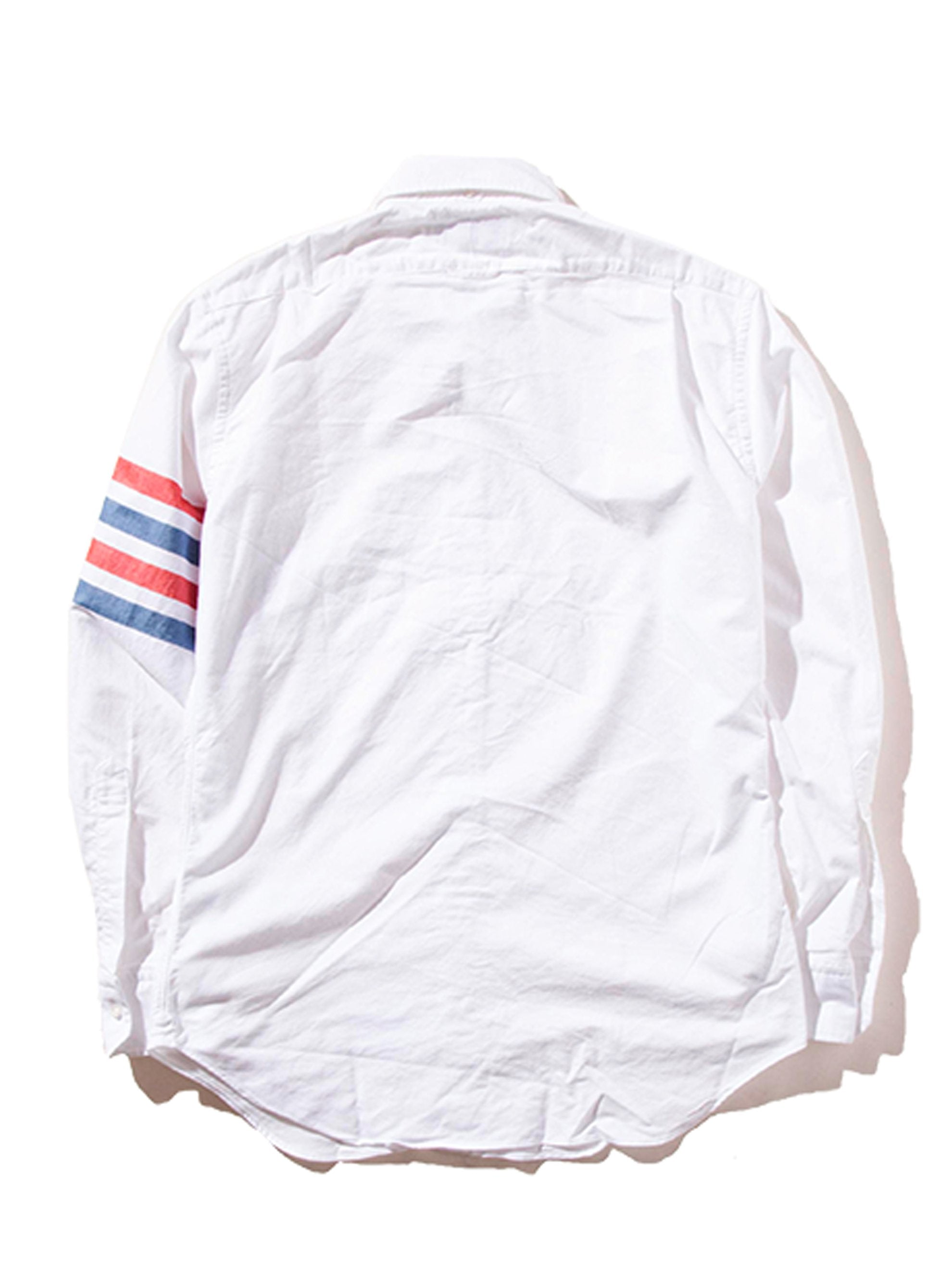 RWB White Classic LS BD Point Collar Shirt (Woven 4 Bar) 9