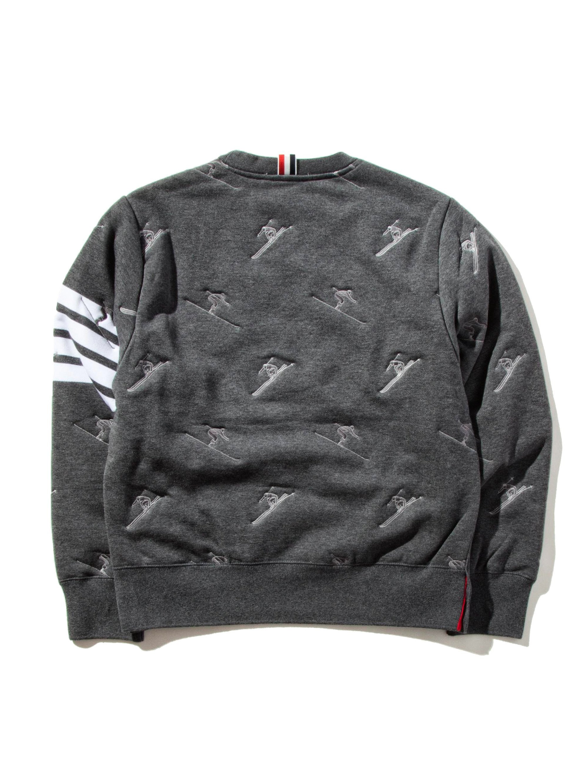 Dark Grey Classic Sweatshirt (Quilted Classic Loopback/Skier Icon Embroidery) 9