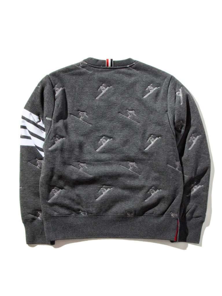 Dark Grey Classic Sweatshirt (Quilted Classic Loopback/Skier Icon Embroidery) 922719307657