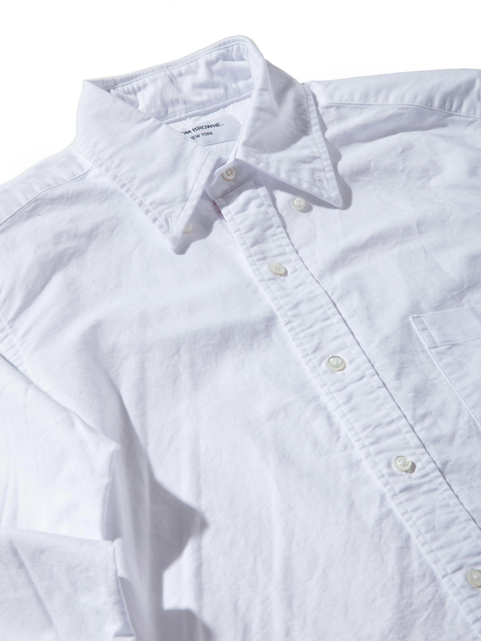 White Classic Long Sleeve B.D. Point Collar (Engineered RWB Placket) 4