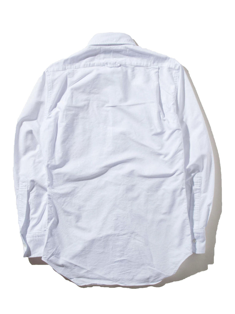 White Classic Long Sleeve B.D. Point Collar (Engineered RWB Placket) 622719289993