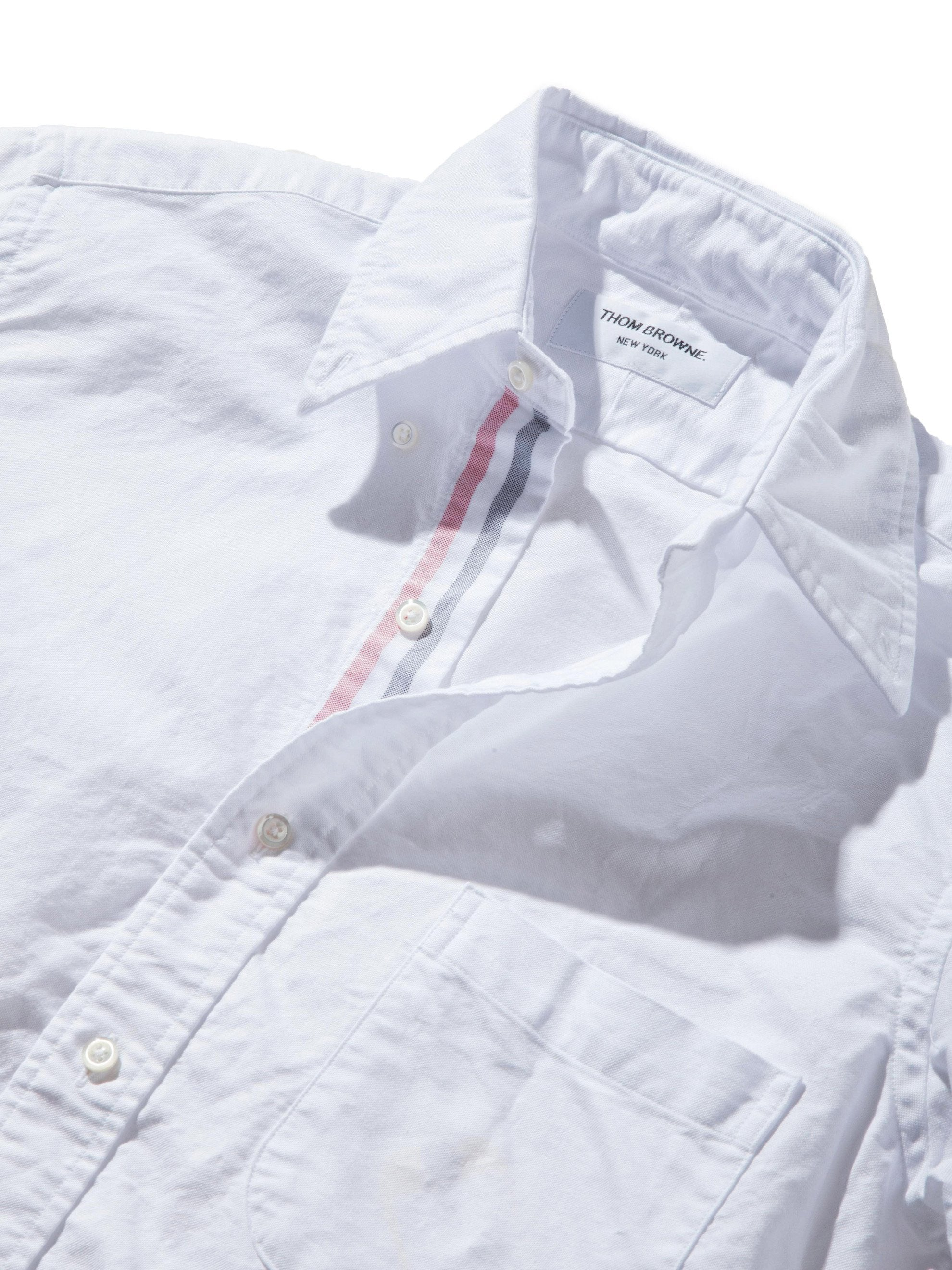 White Classic Long Sleeve B.D. Point Collar (Engineered RWB Placket) 8