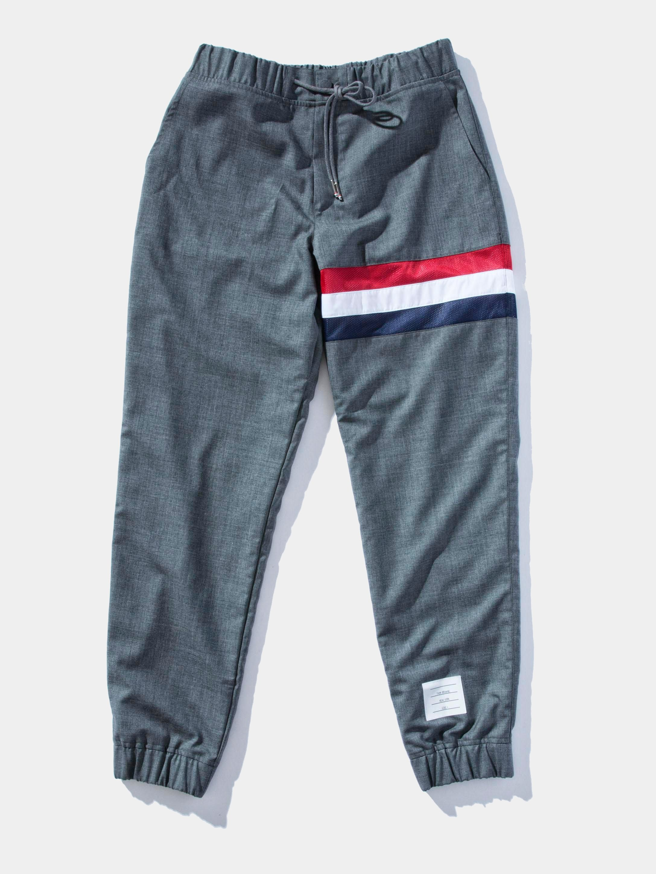 Medium Grey Super 120's Plain Weave Sweatpants 1