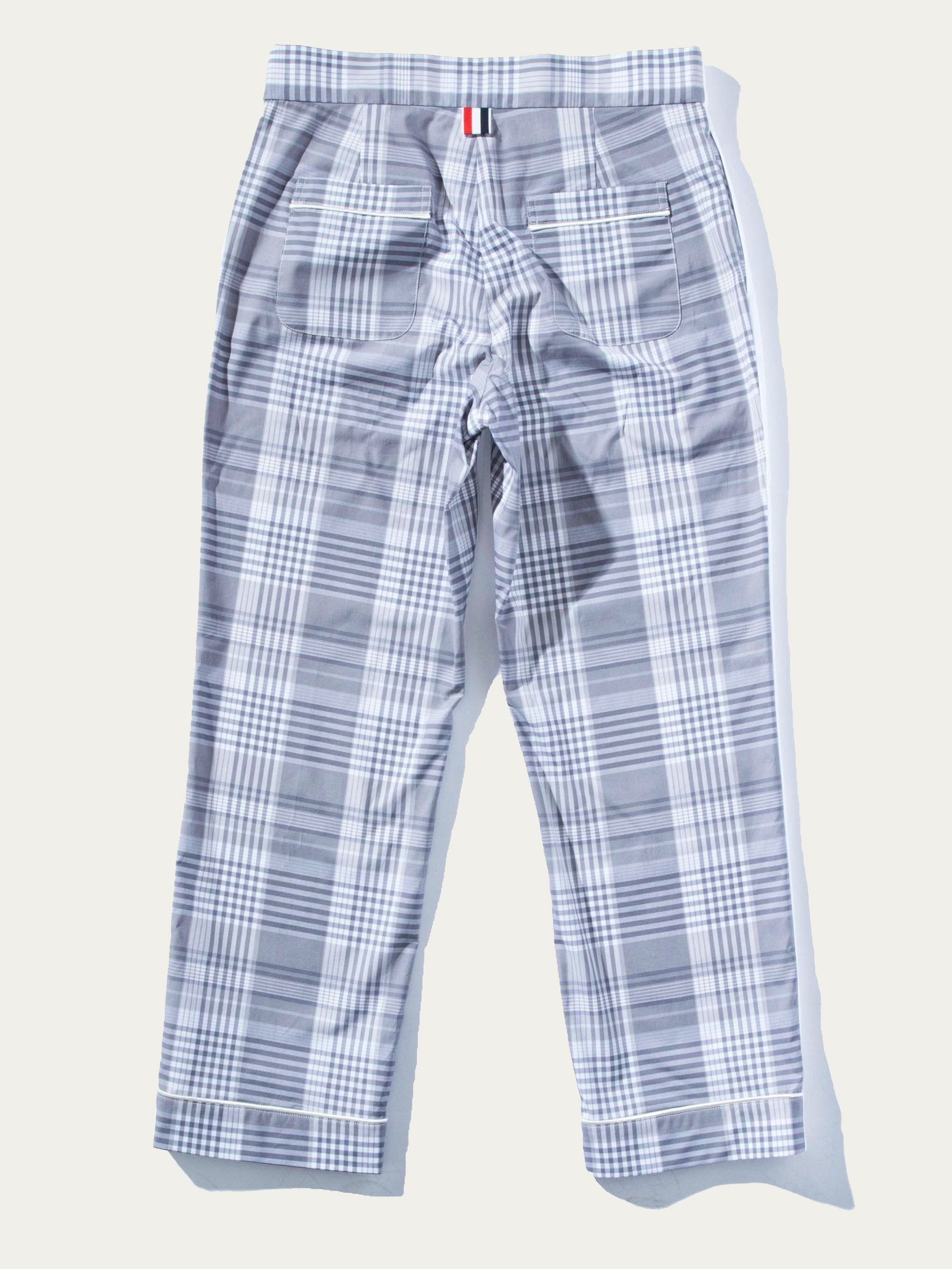 Bicolor Pajama Trouser w/Piping in Oxford