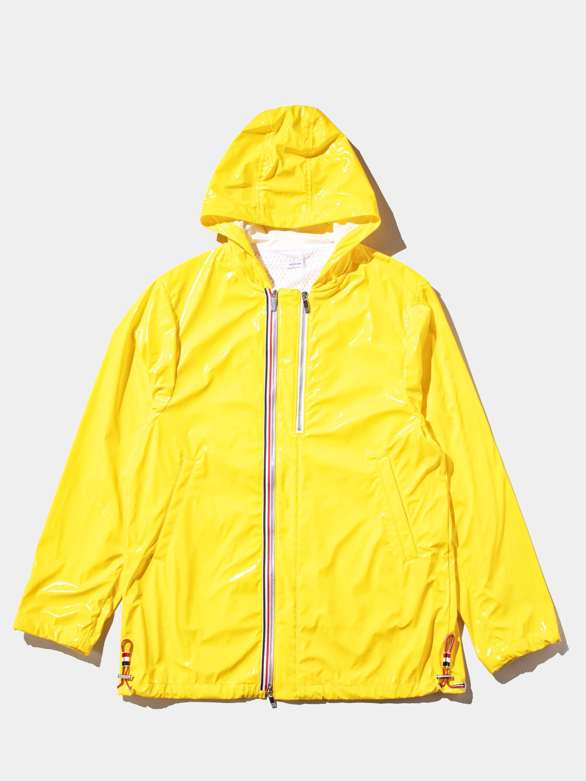 Yellow Articulated Hooded Nylon Jacket 1
