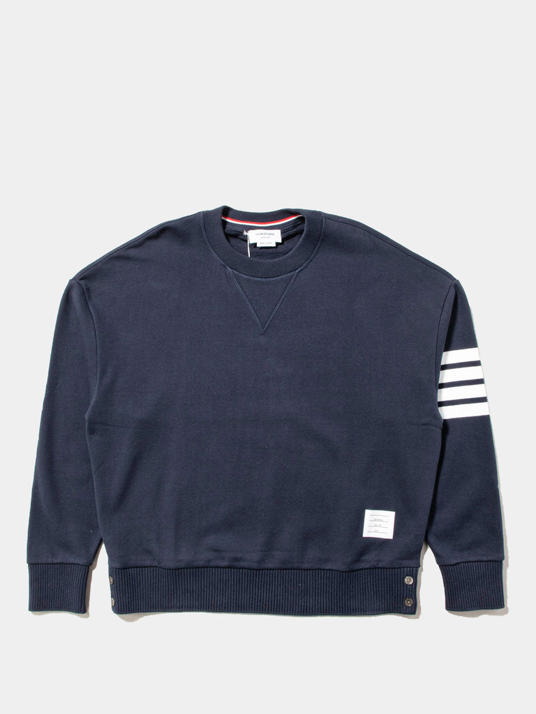 Oversized Classic Crew Neck Sweatshirt In Classic Loop Back W/ Engineered 4 Bar