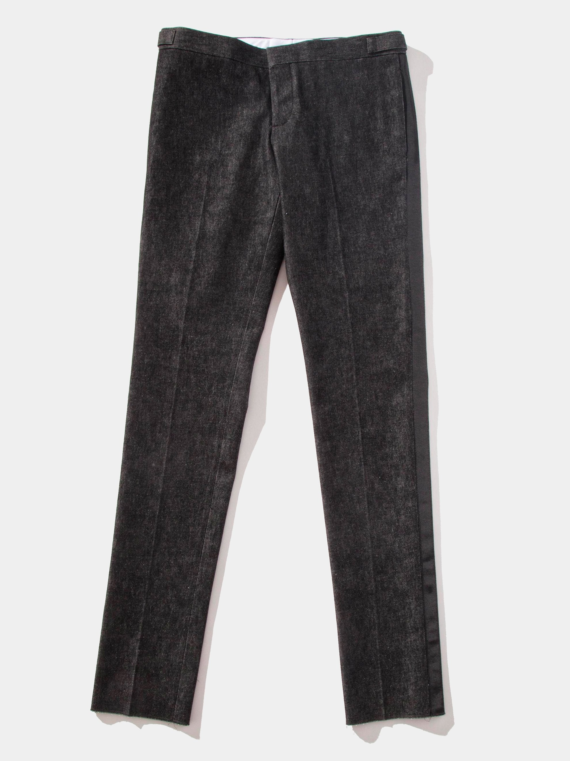 Unconstructed Low Rise Skinny Trouser (GG Tipping/Washed Denim)