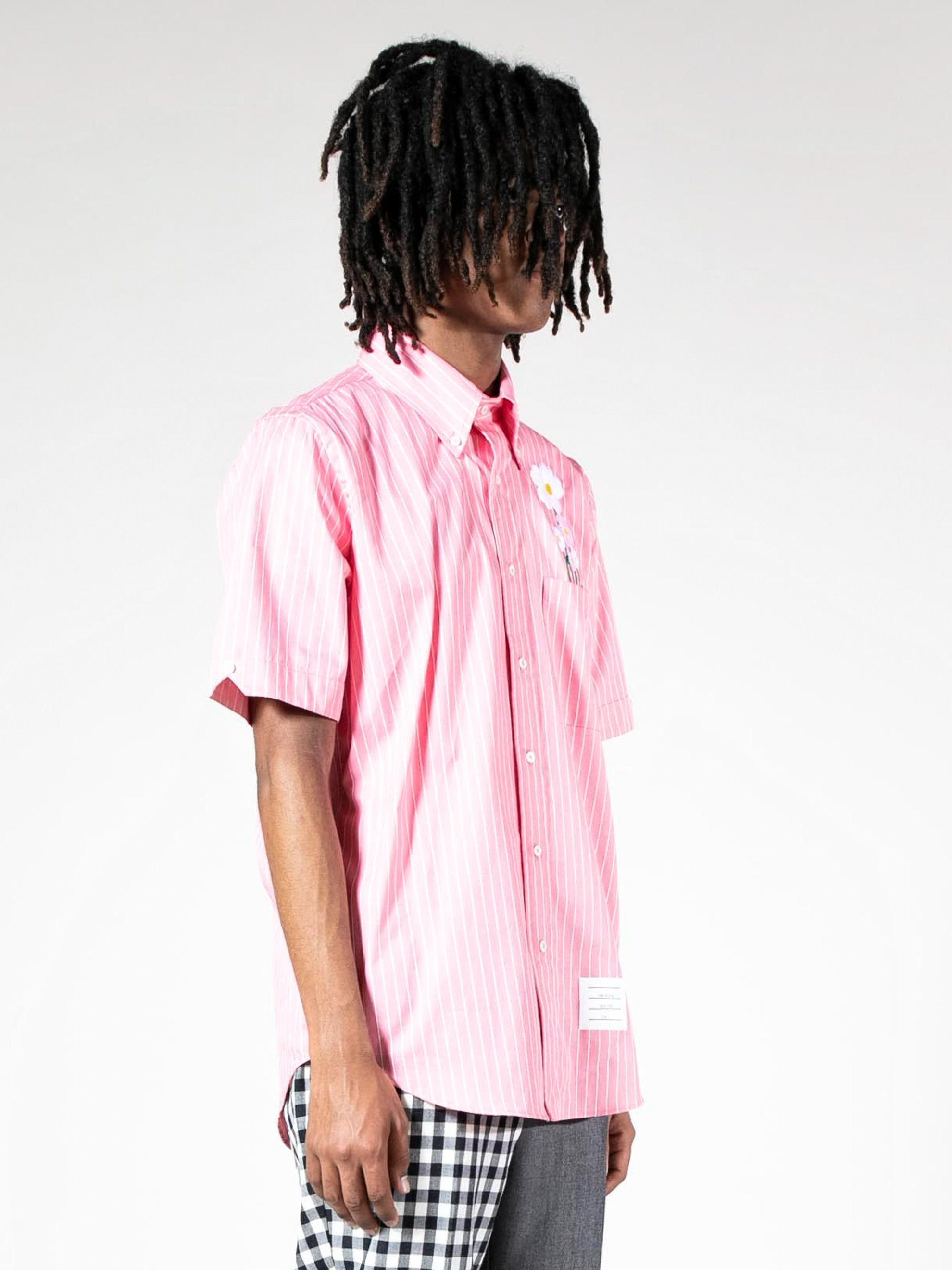 S/S Button-Down Daisy Pocket Shirt