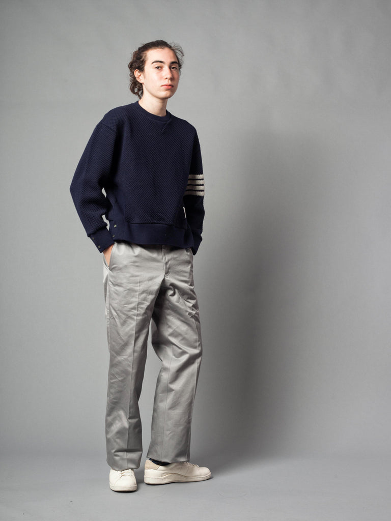 Med Grey Unconstructed Straight Leg Chino (Light Weight High Density Cotton Twill) 621621400649