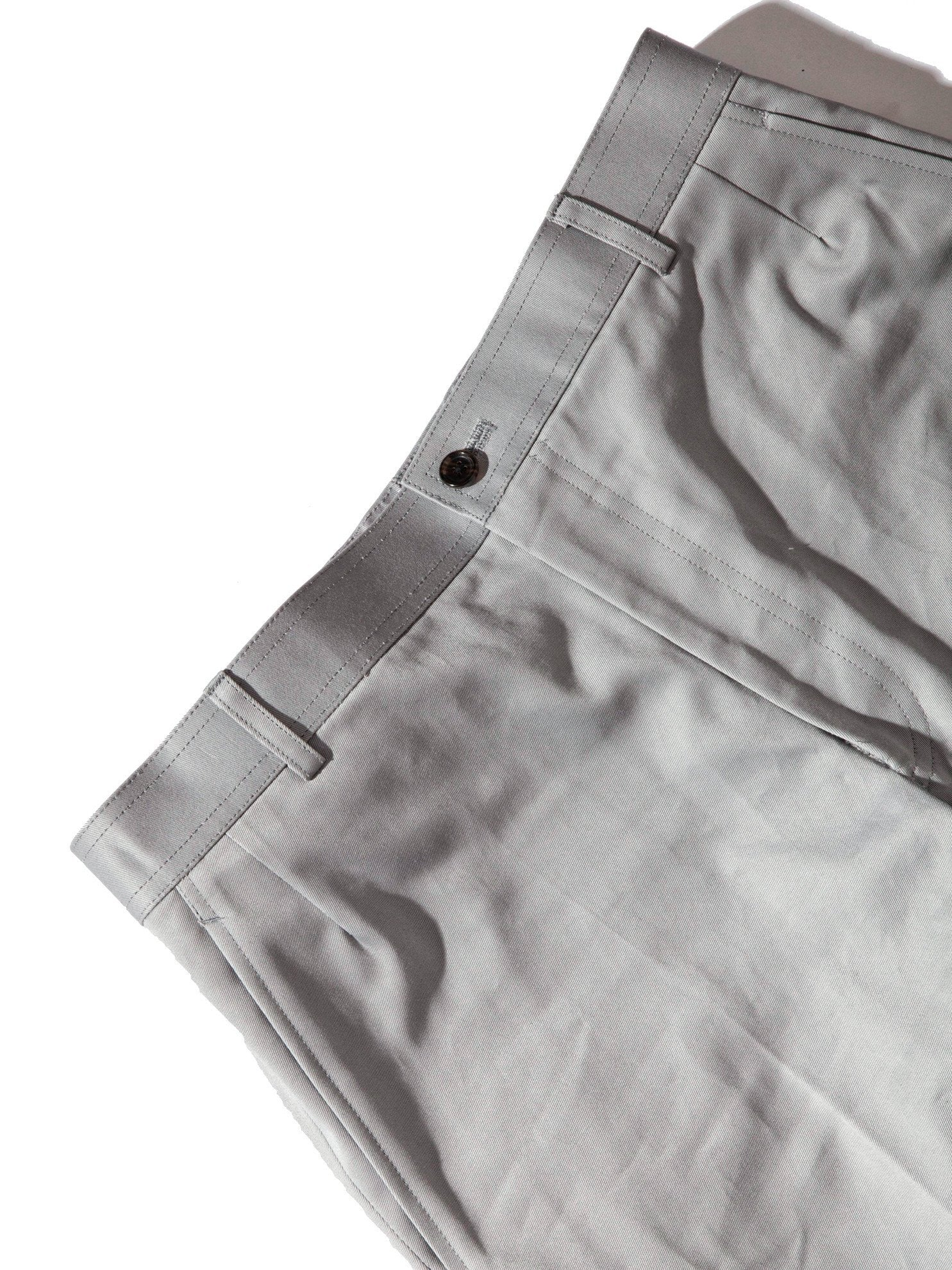 Med Grey Unconstructed Straight Leg Chino (Light Weight High Density Cotton Twill) 9
