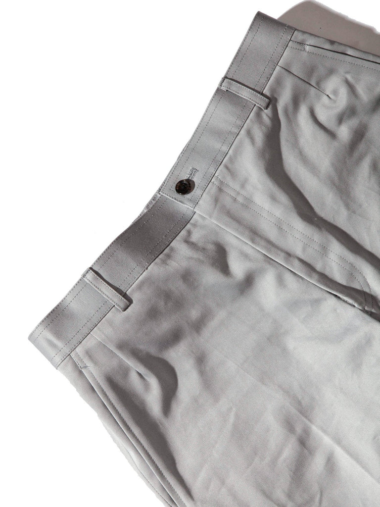 Med Grey Unconstructed Straight Leg Chino (Light Weight High Density Cotton Twill) 921621402889
