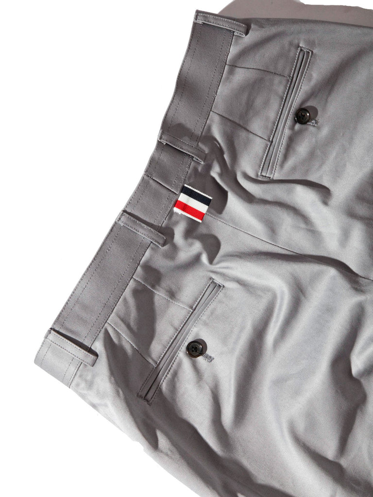 Med Grey Unconstructed Straight Leg Chino (Light Weight High Density Cotton Twill) 1121621393929