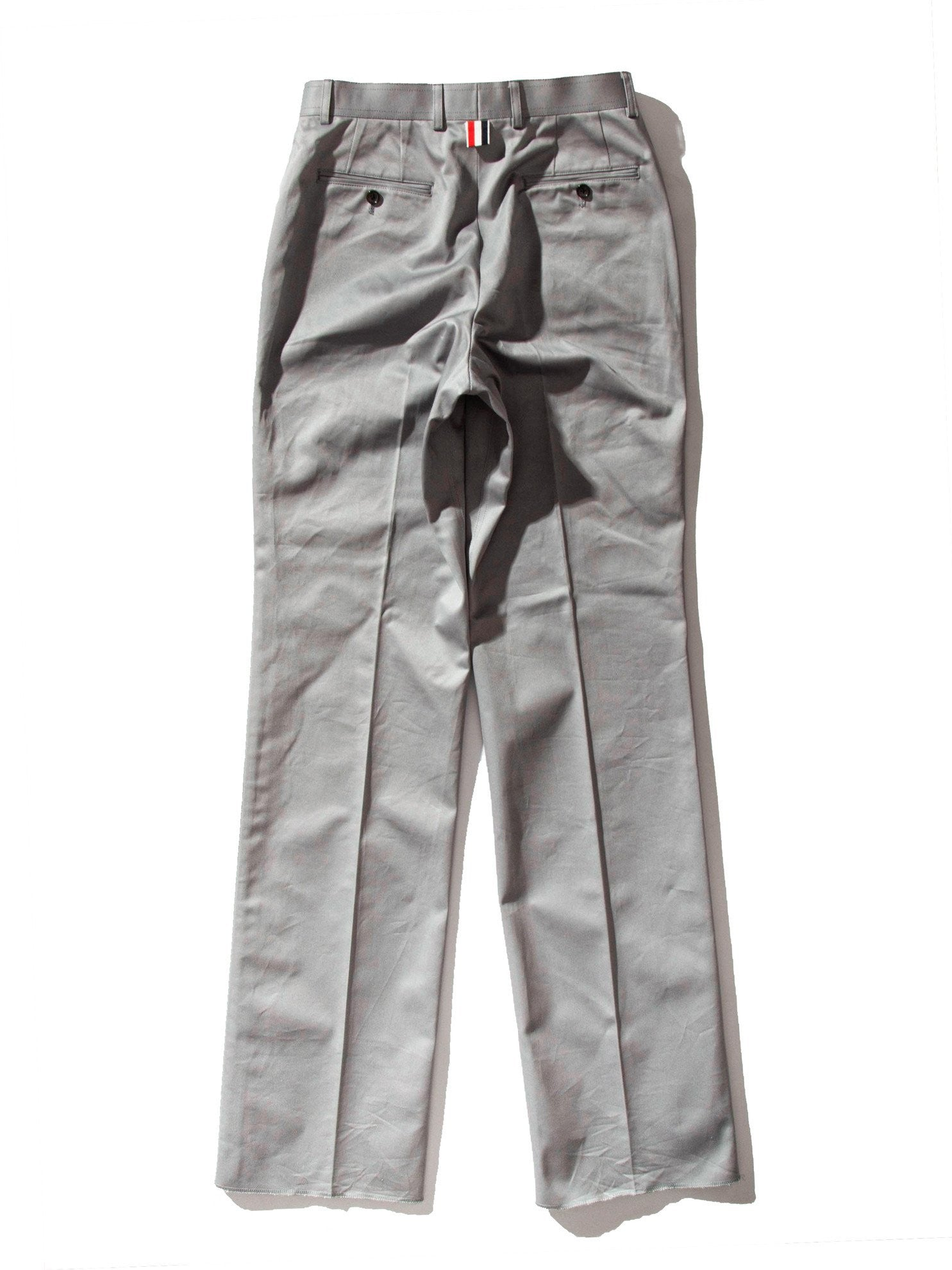 Med Grey Unconstructed Straight Leg Chino (Light Weight High Density Cotton Twill) 8