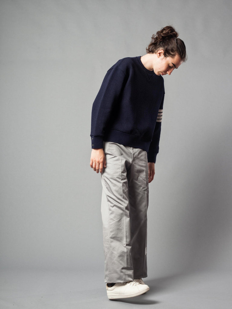 Med Grey Unconstructed Straight Leg Chino (Light Weight High Density Cotton Twill) 321621398345