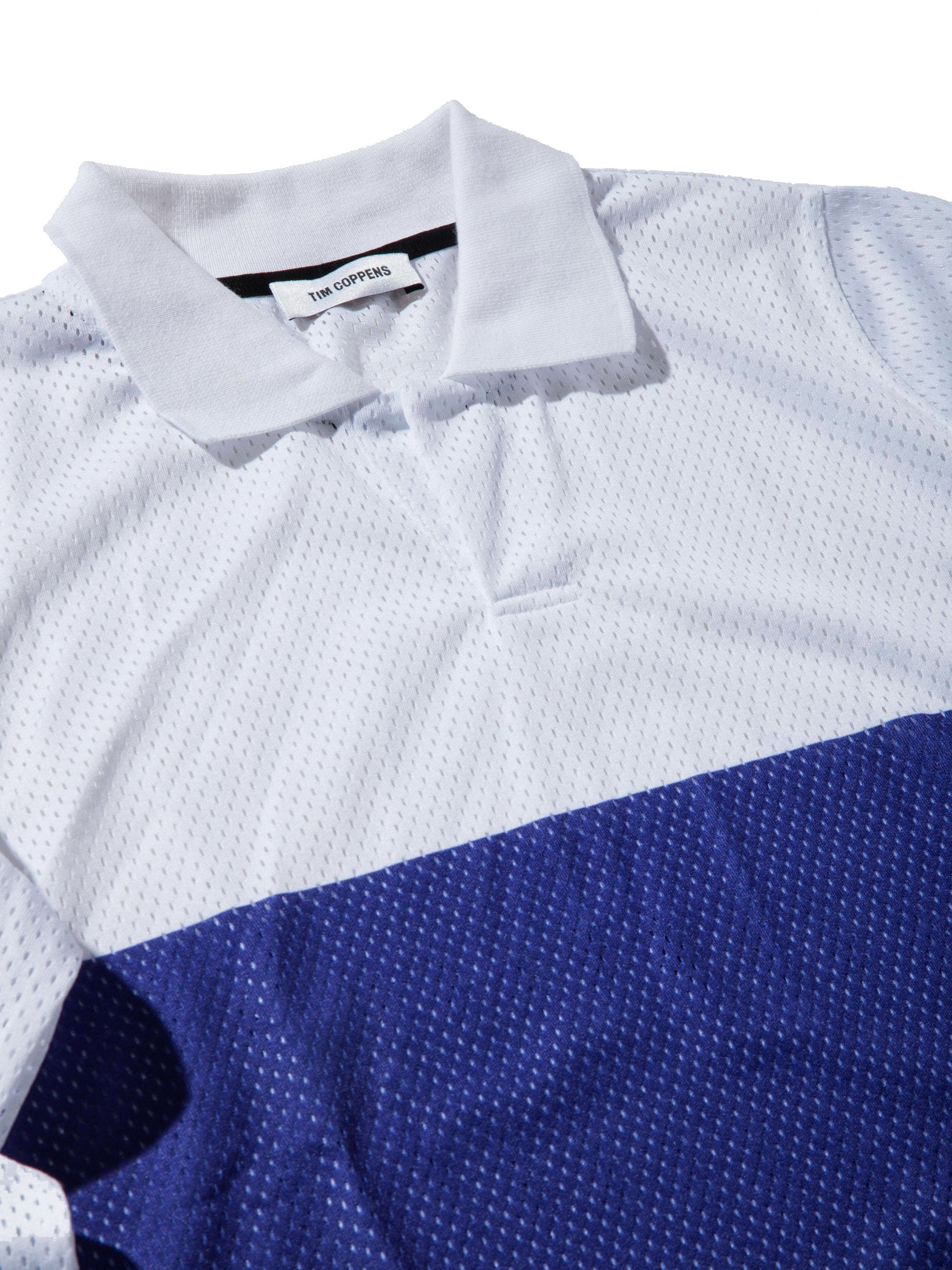 White Pieced Motocross Polo 5