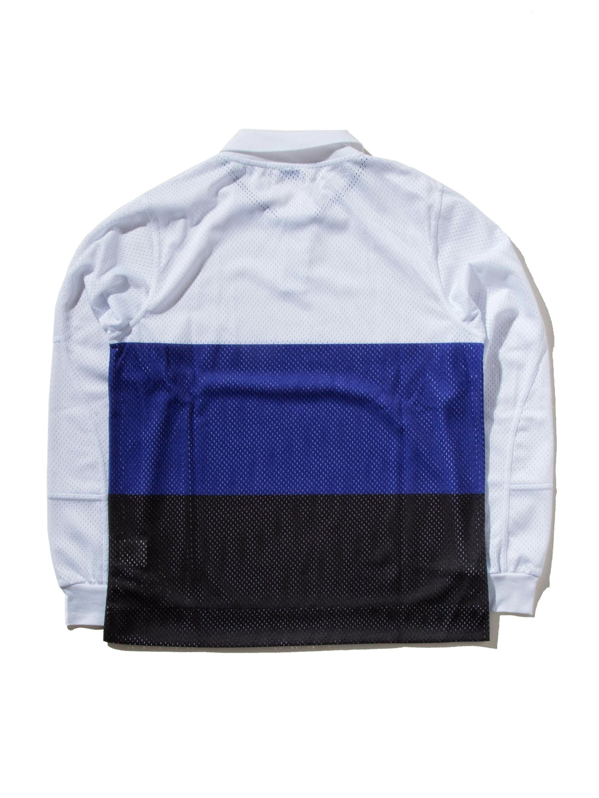 White Pieced Motocross Polo 7