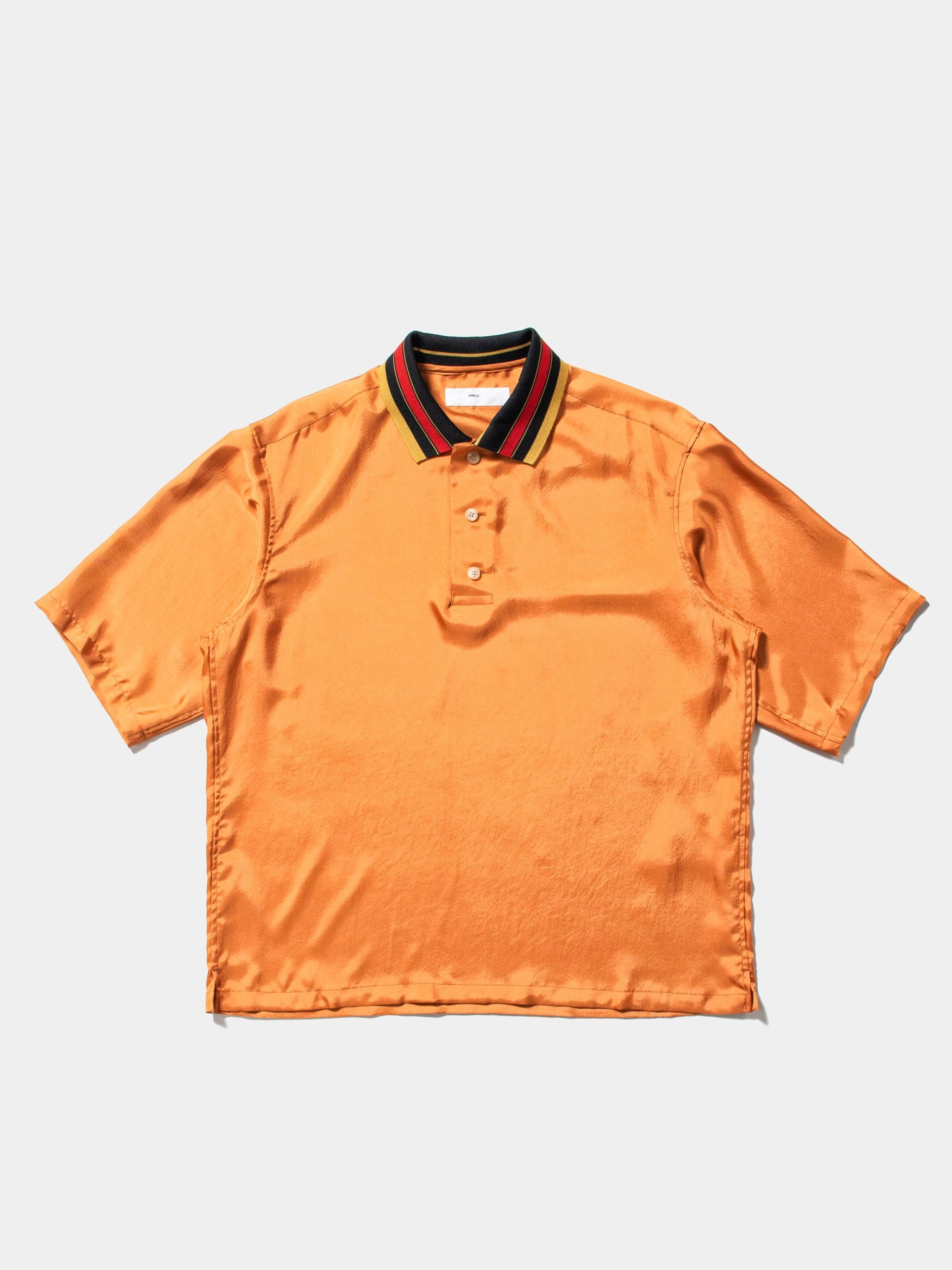 Camel Orange High Twist Twill Shirt 1