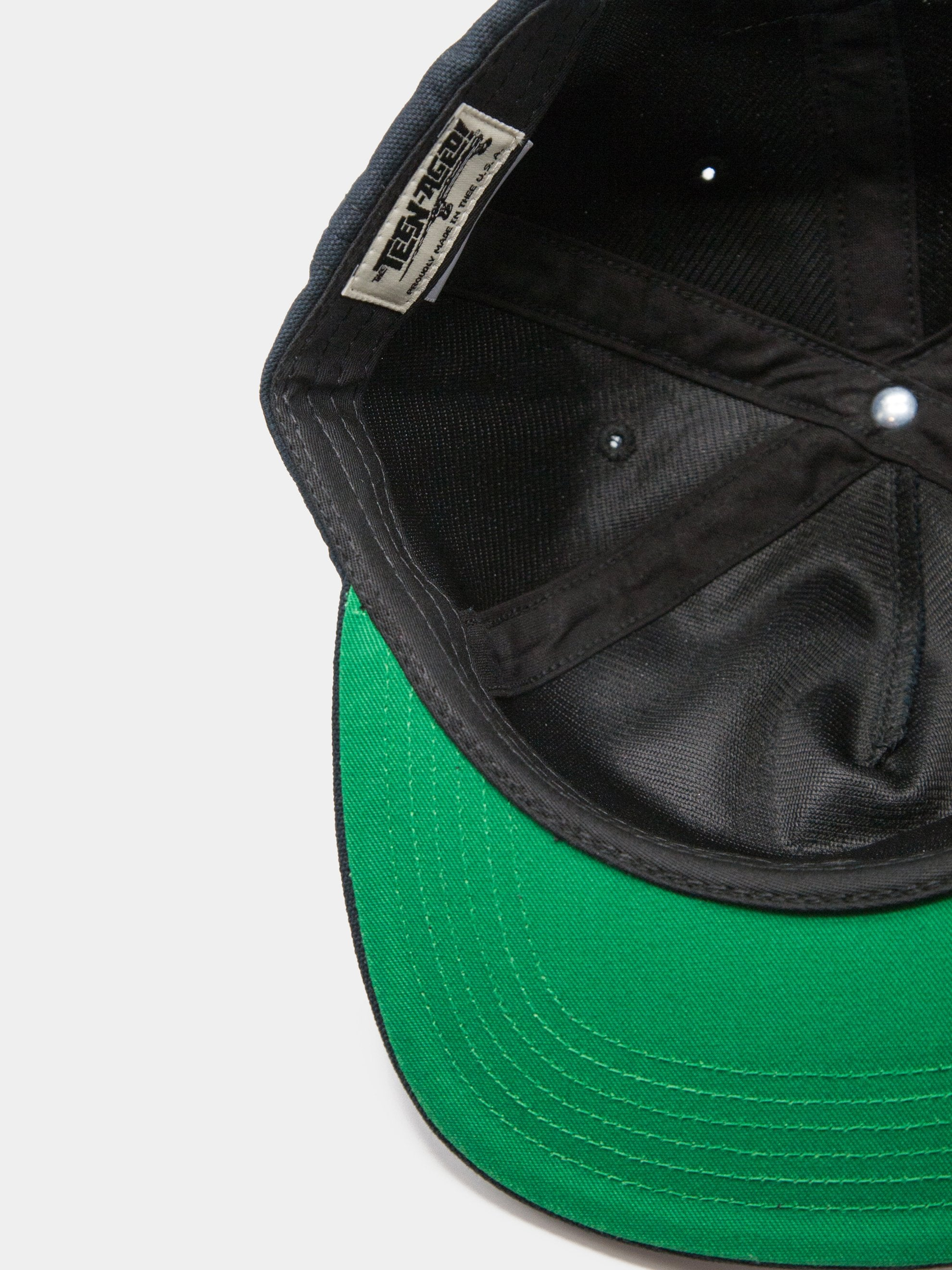 Black Union 5 Panel Unstructured Trucker 4