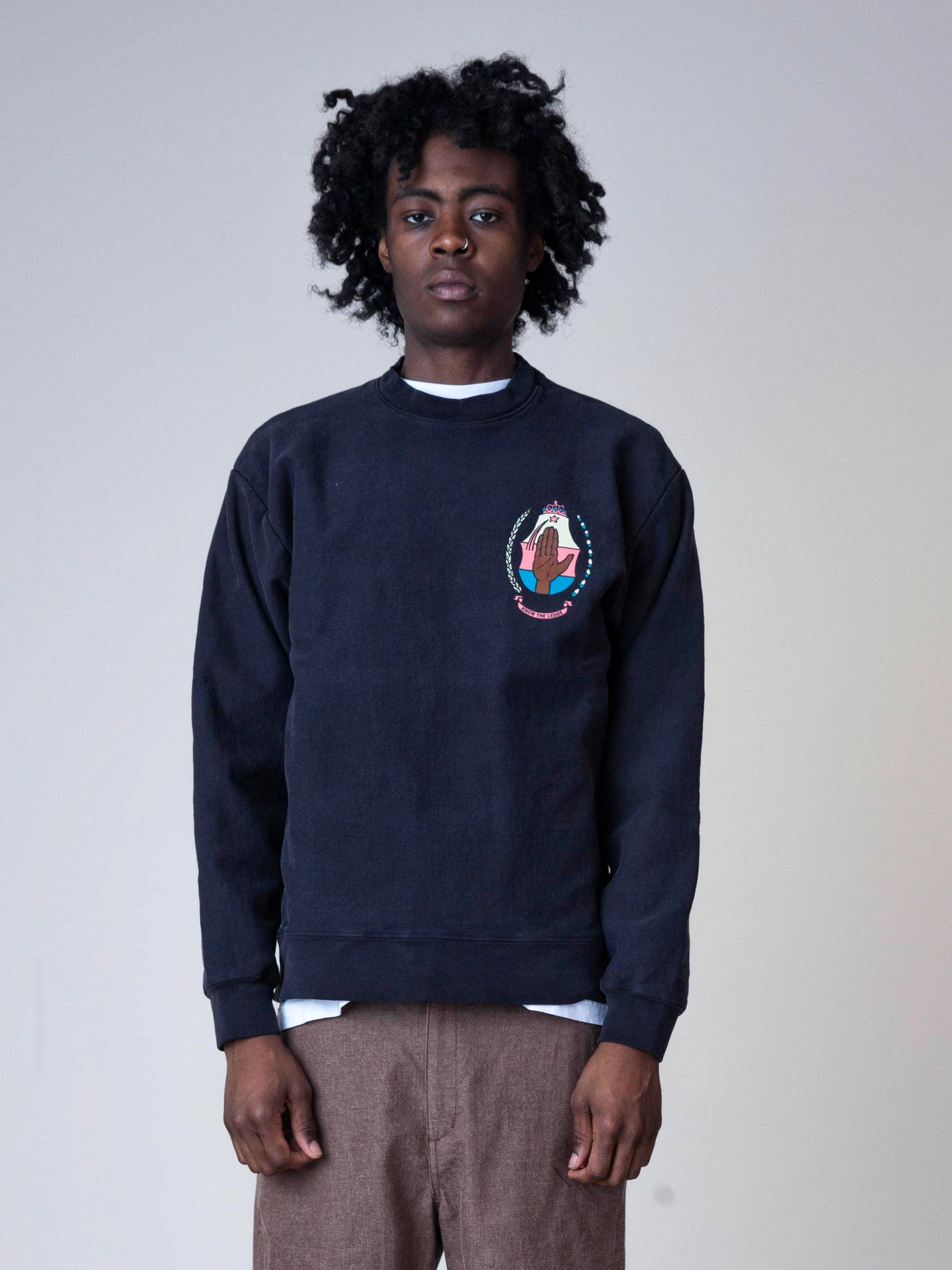 Off Black Hand Of Africa Crewneck 2