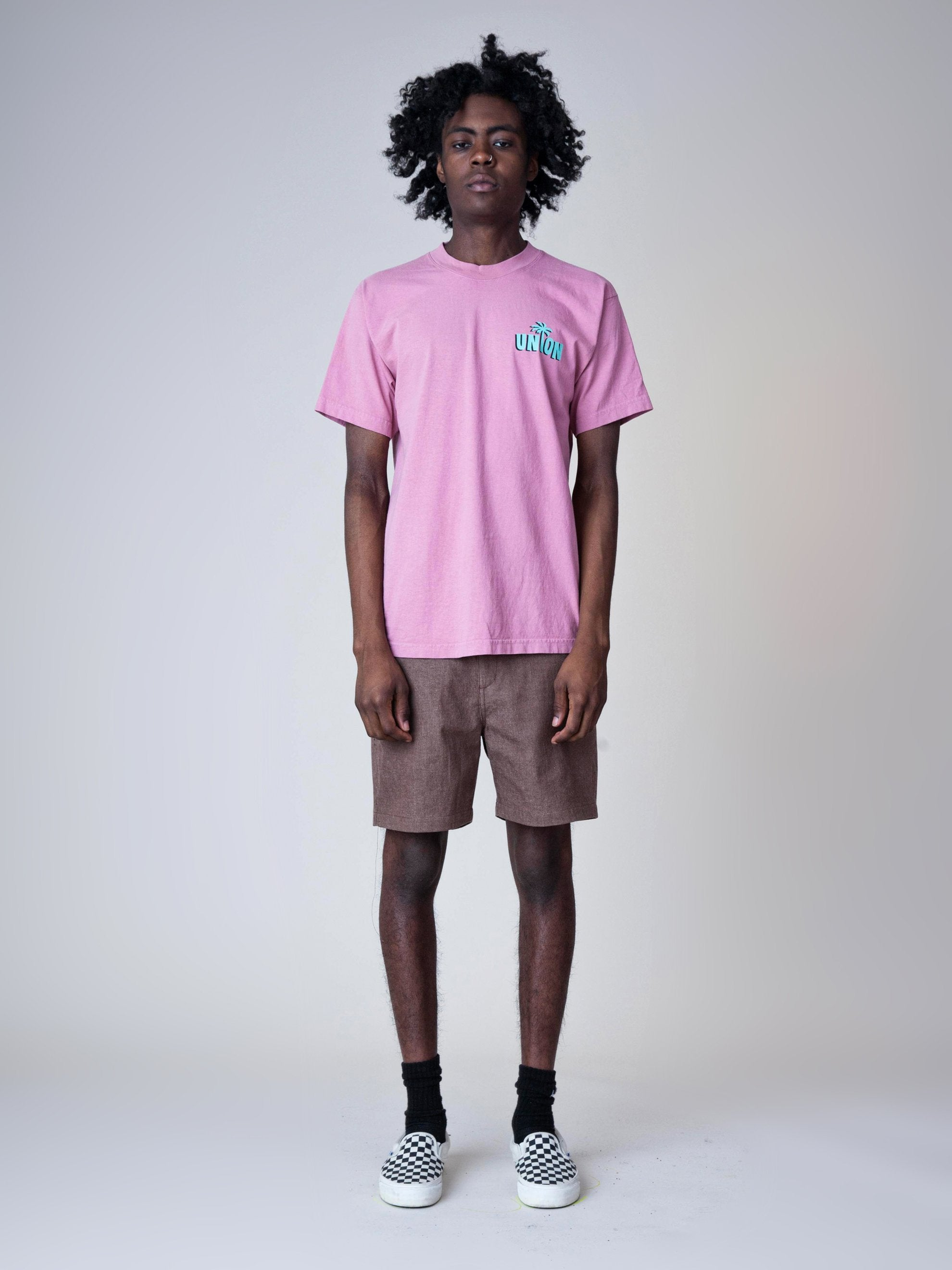 Dusty Pink Strictly Reggae T-Shirt 3