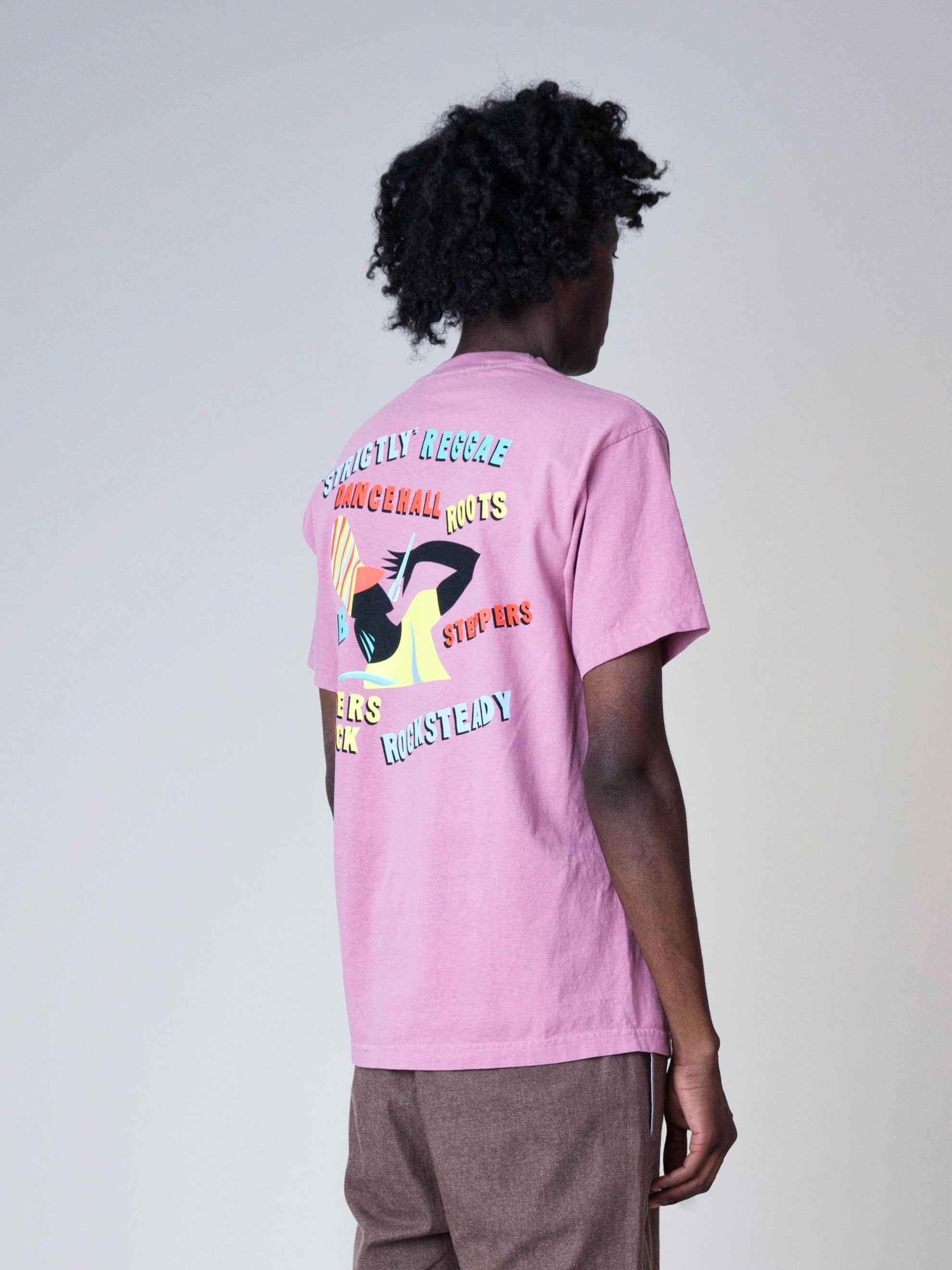 Dusty Pink Strictly Reggae T-Shirt 5