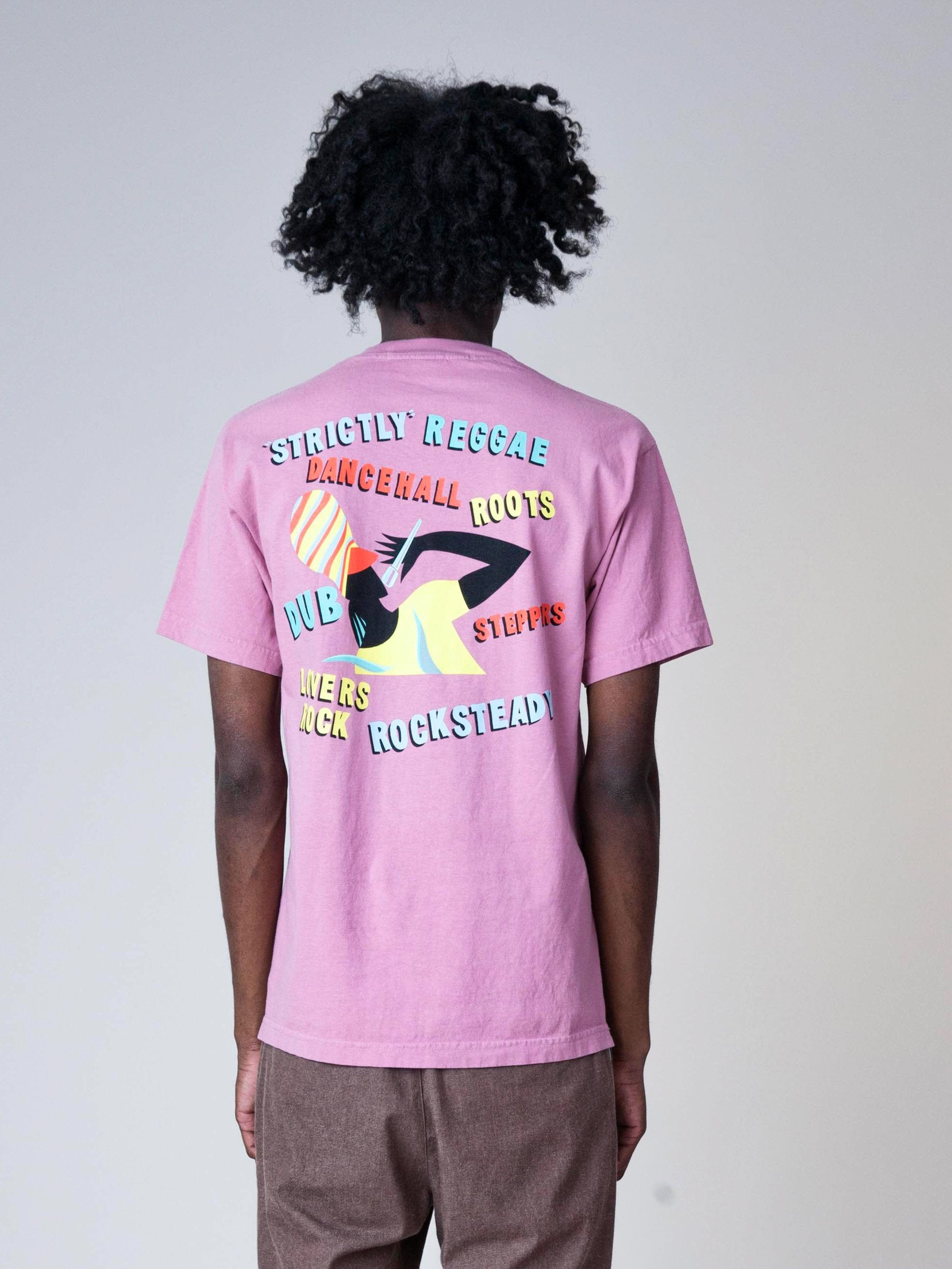 Dusty Pink Strictly Reggae T-Shirt 6