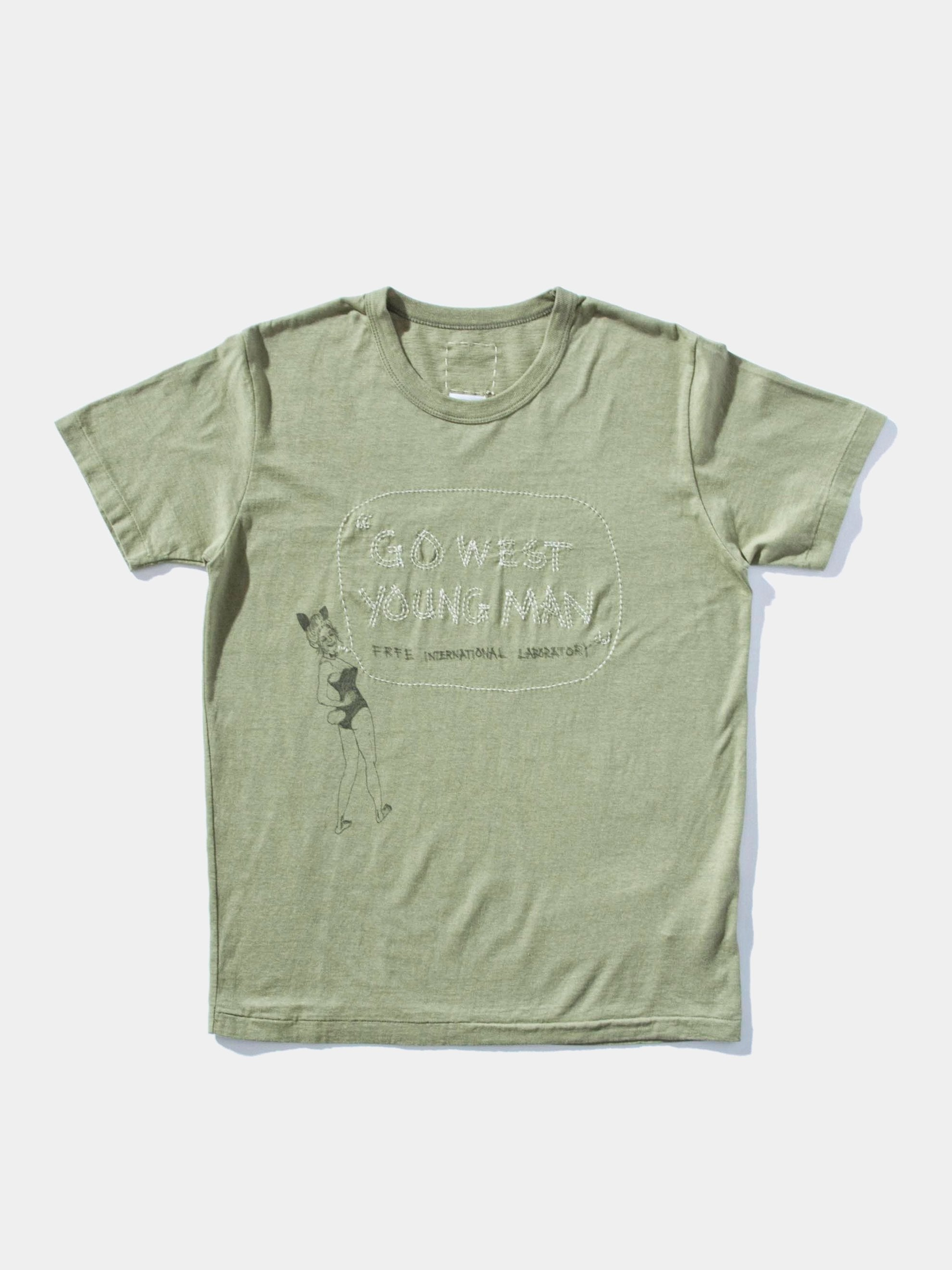 Green Wide Tee S/S Go West 1