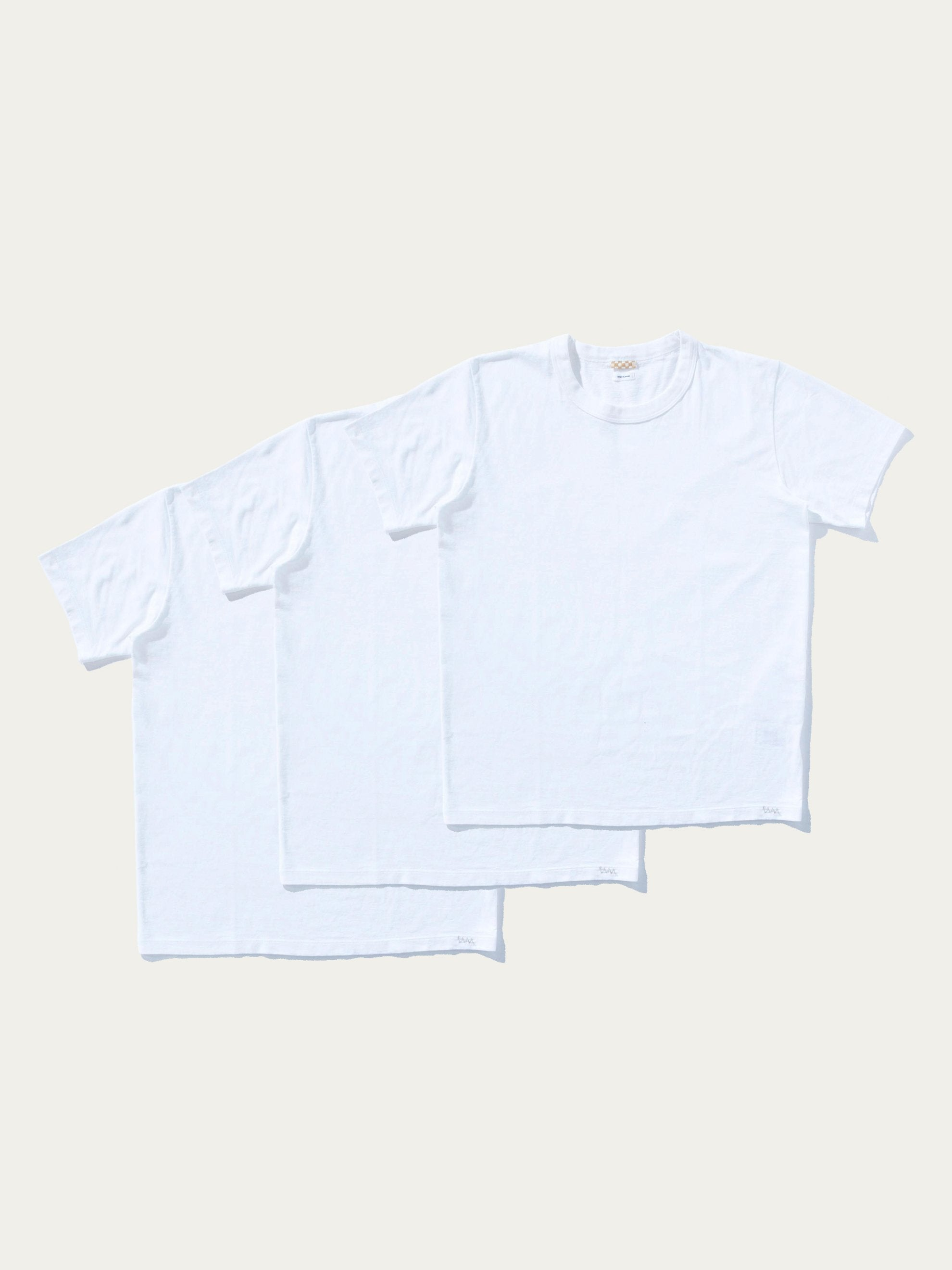 White Sublib Crew 3-Pack S/S (Wide) 6