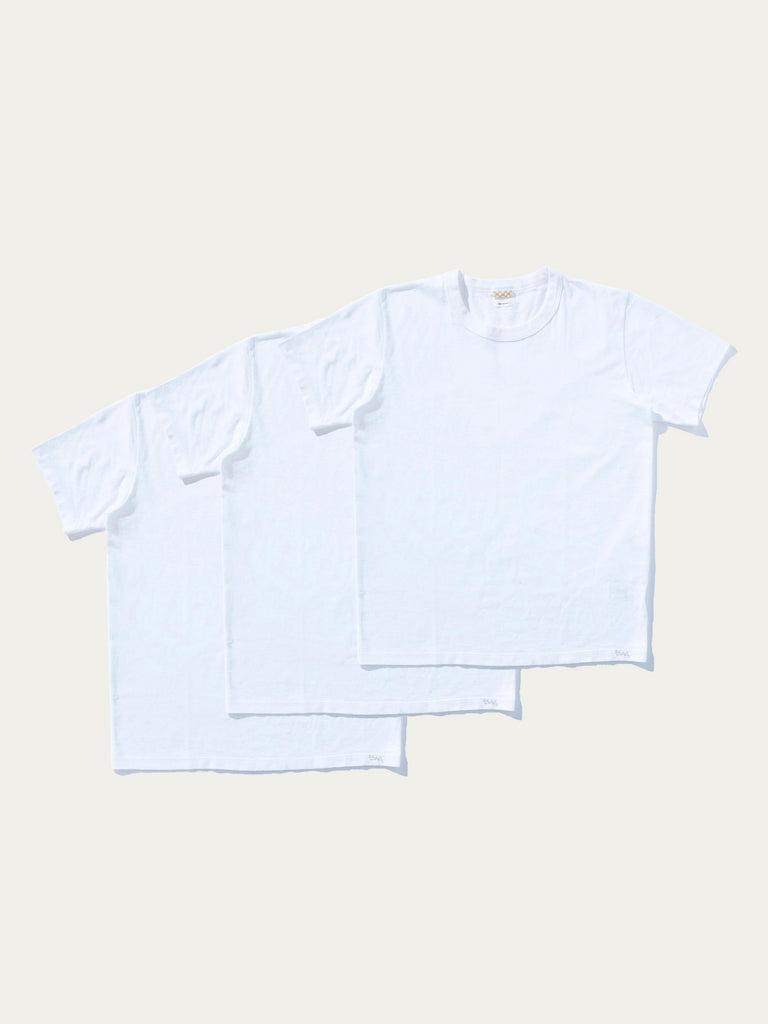 White Sublib Crew 3-Pack S/S (Wide) 613571915677773