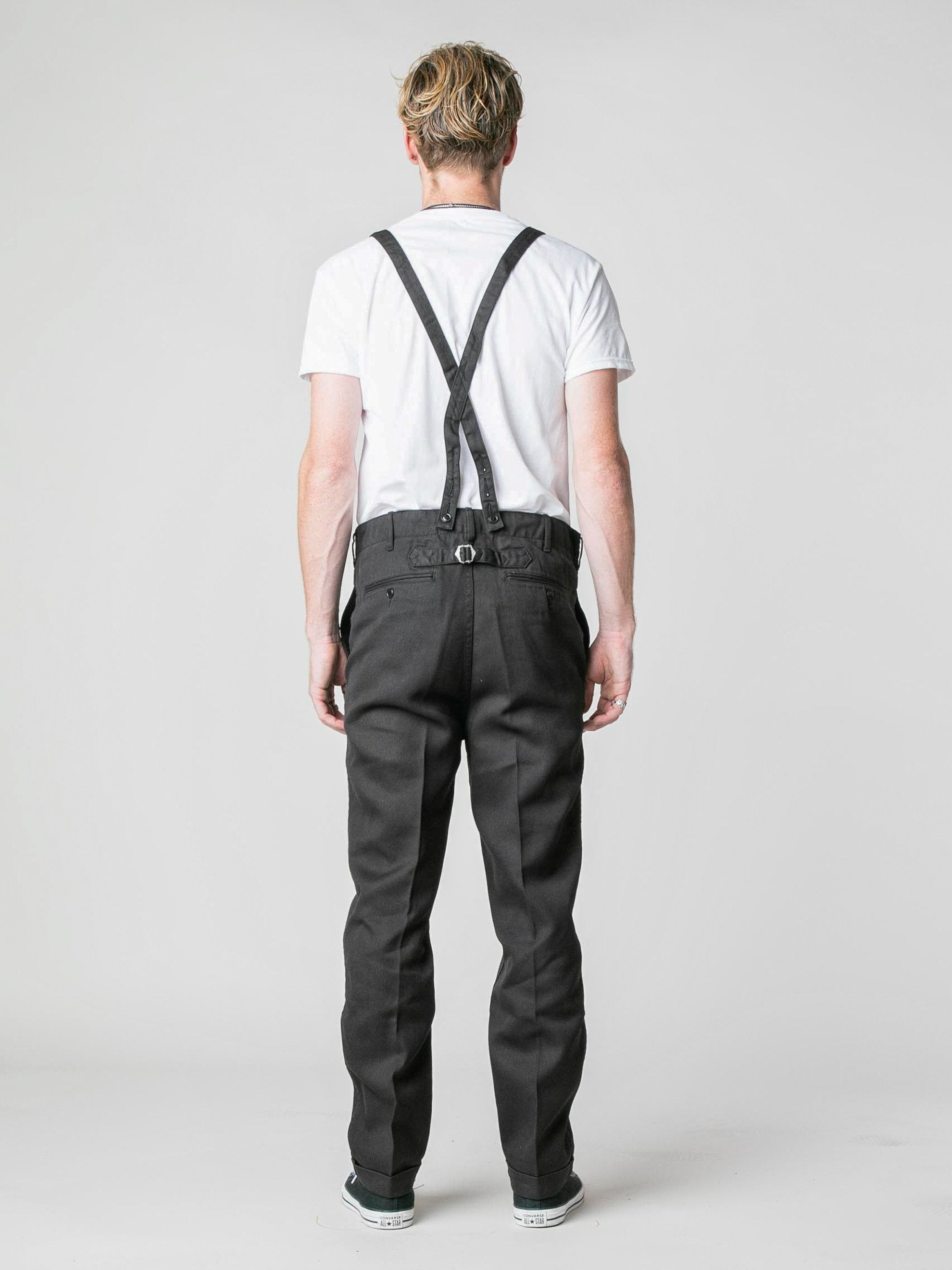Black Camus Braces Pants 6