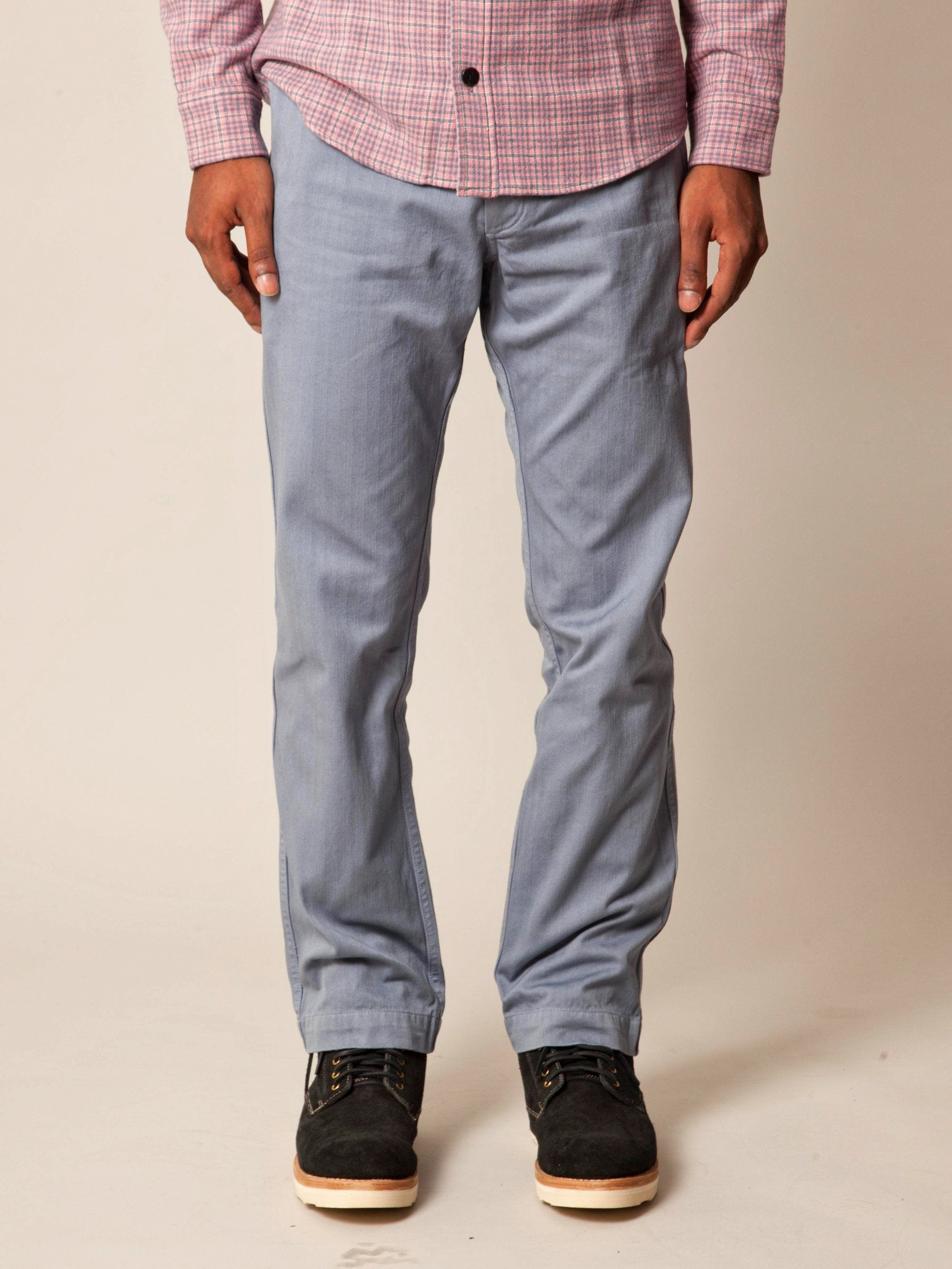 Grey Pastoral Pants Herringbone 2