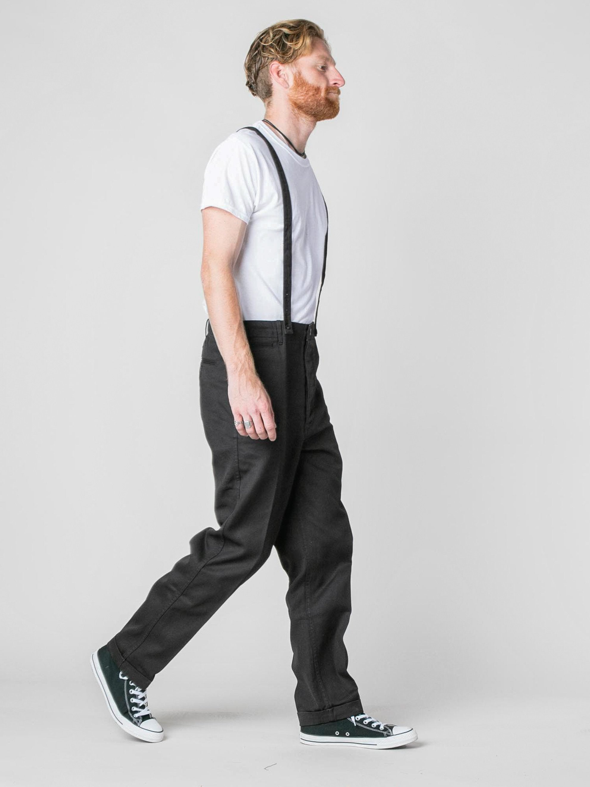 Black Camus Braces Pants 5