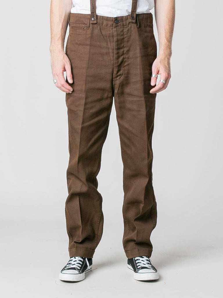 Brown Camus Braces Pants 213570241691725