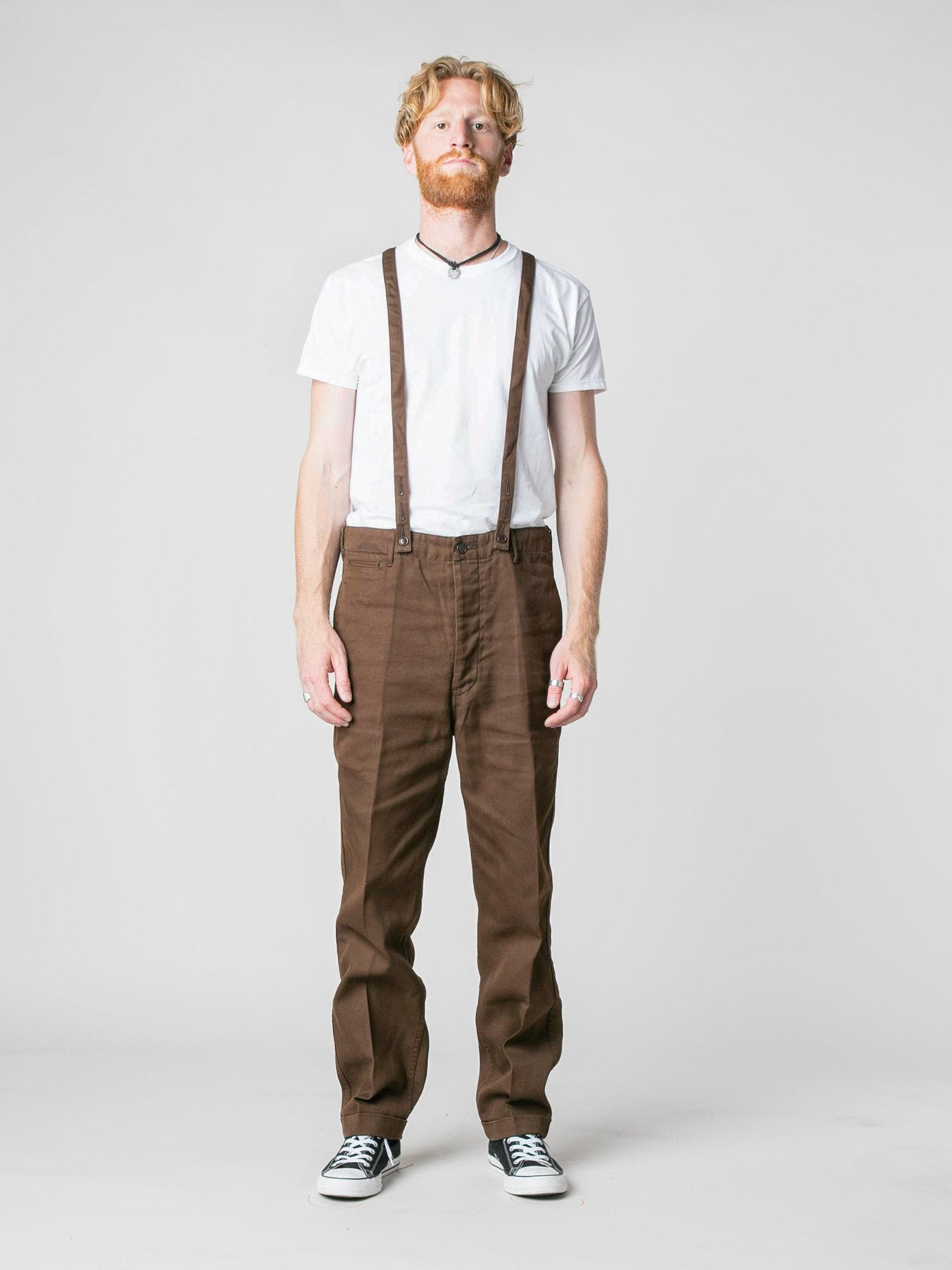 Brown Camus Braces Pants 3