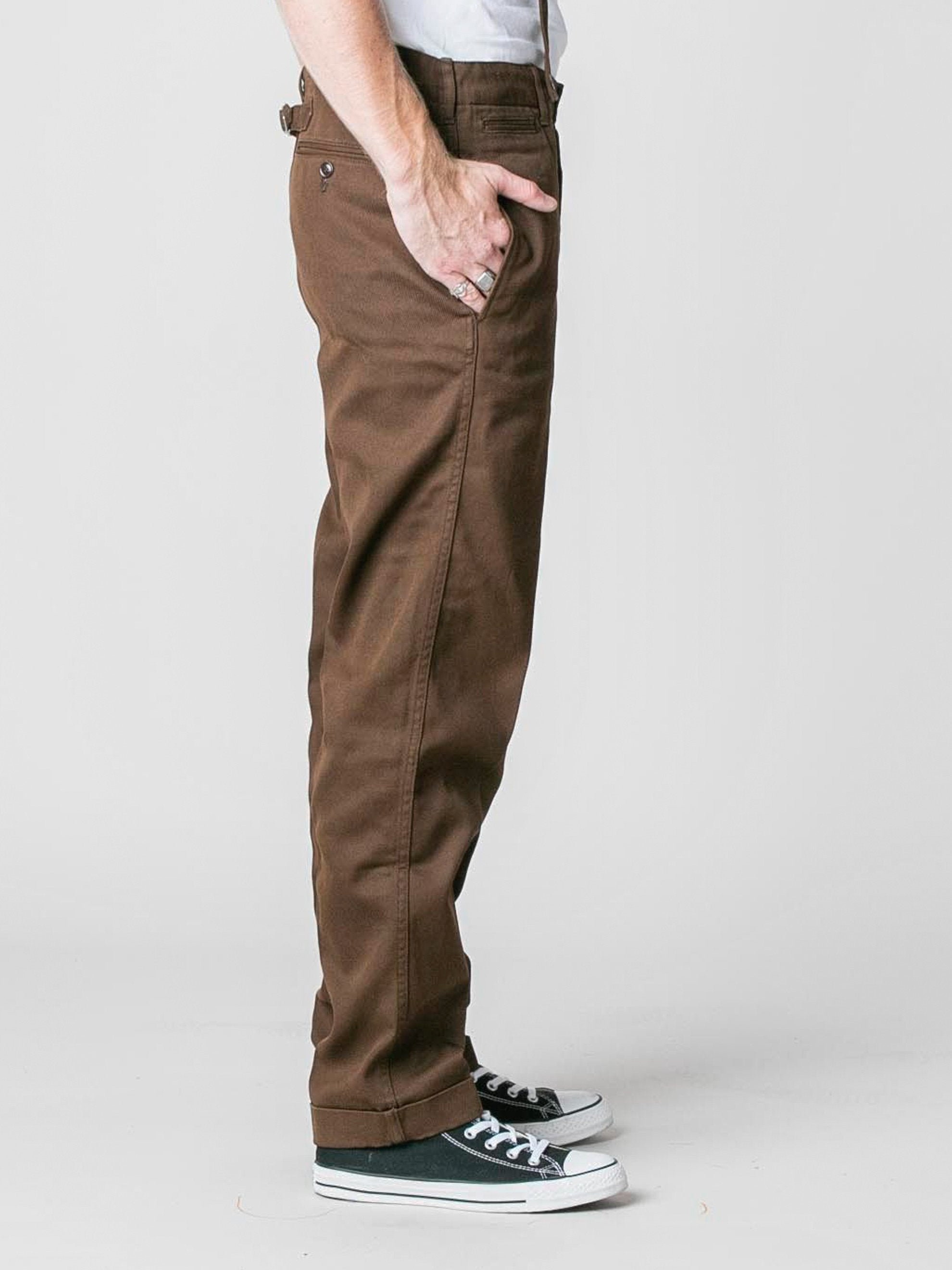 Brown Camus Braces Pants 4