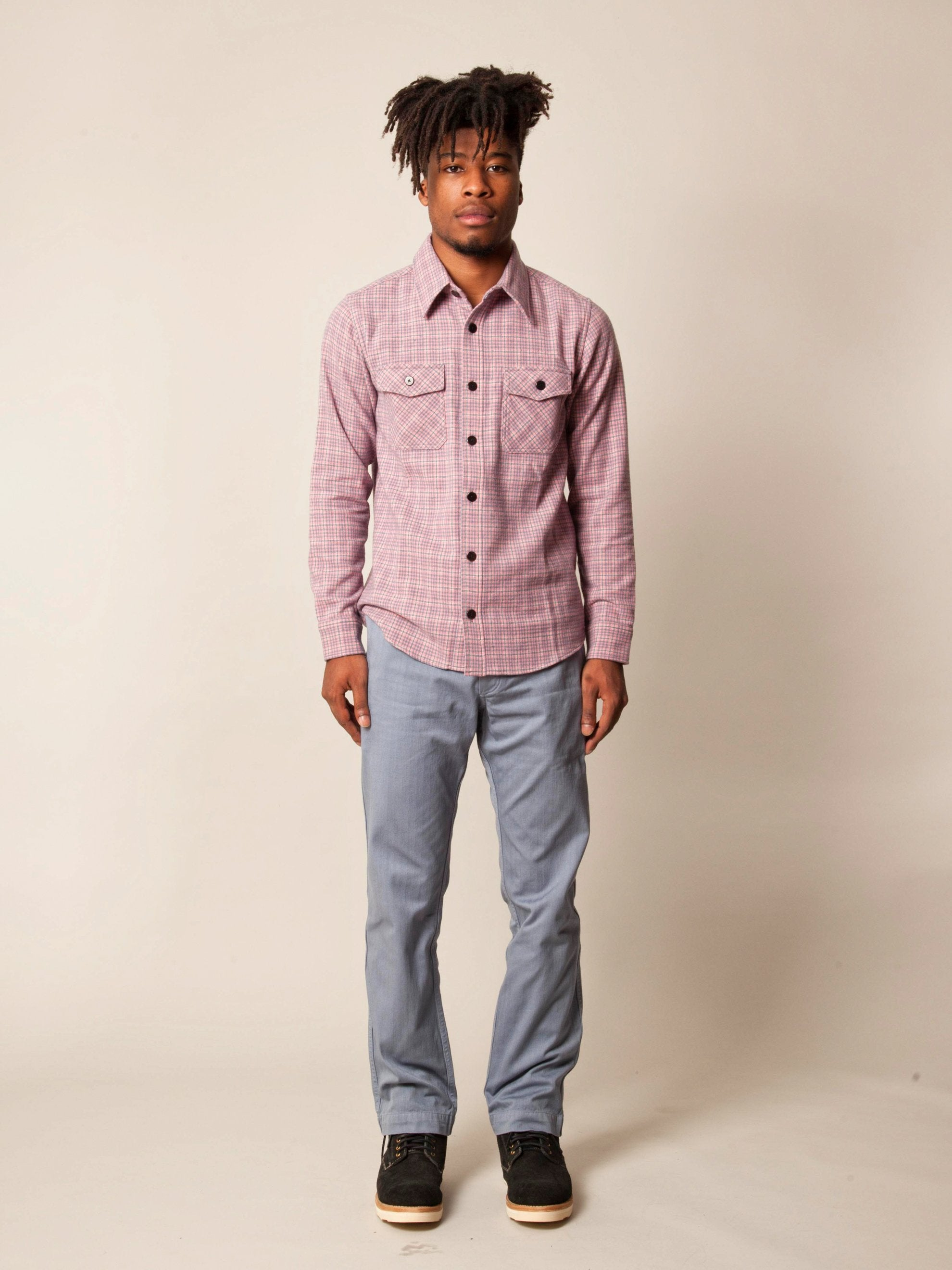 Blue Black Elk Flannel Check (W/LI/SI) 3