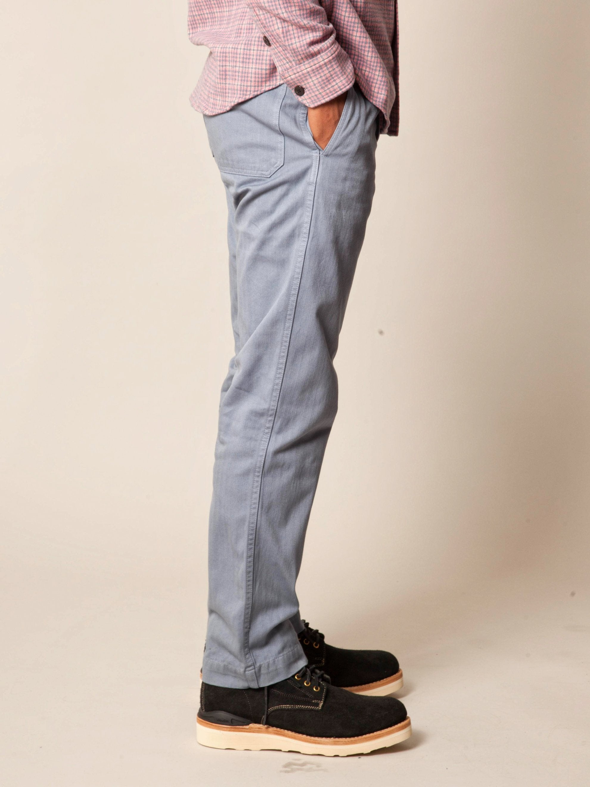 Grey Pastoral Pants Herringbone 4