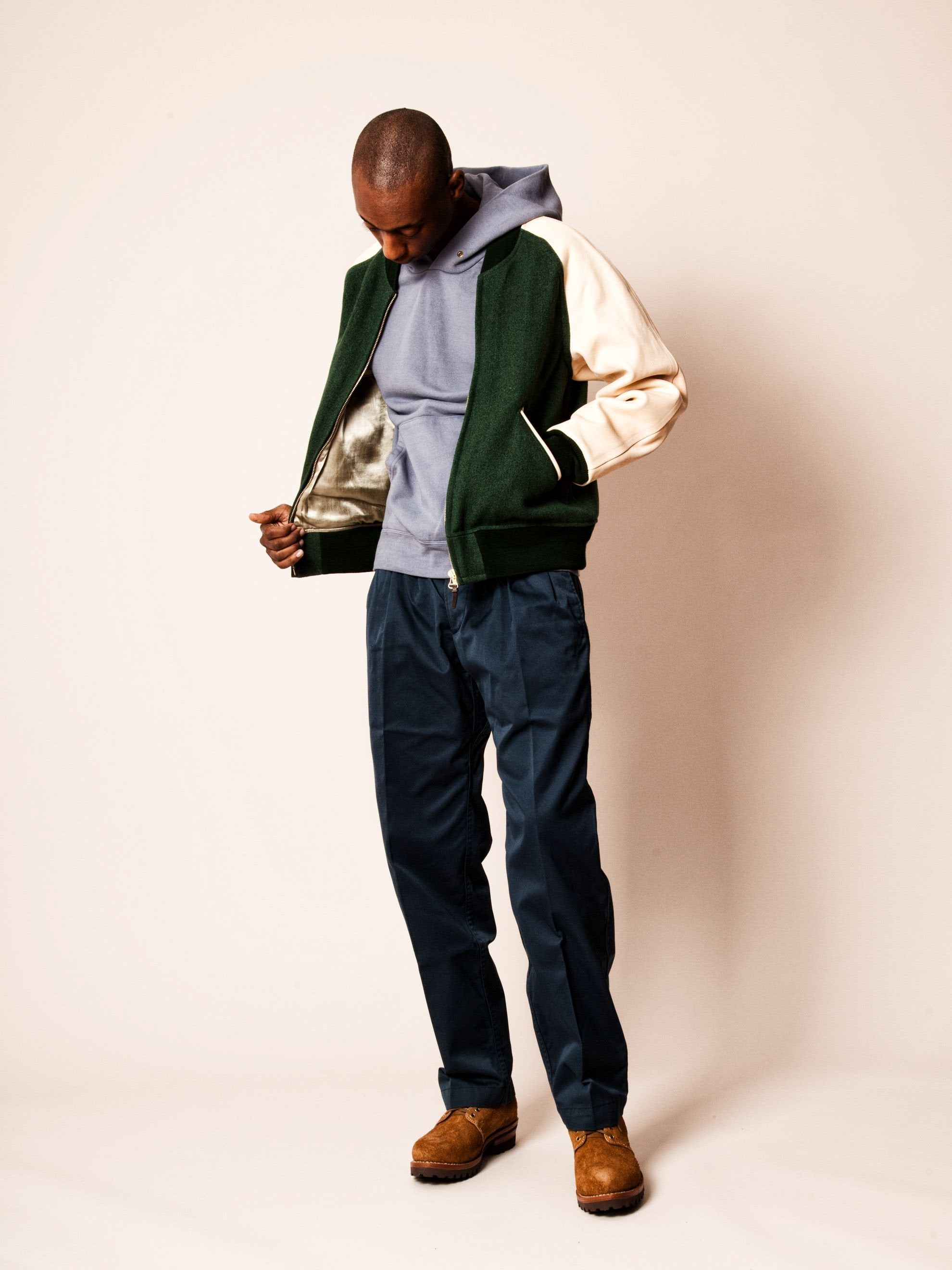 Green Varsity Jacket (Tweed) 5