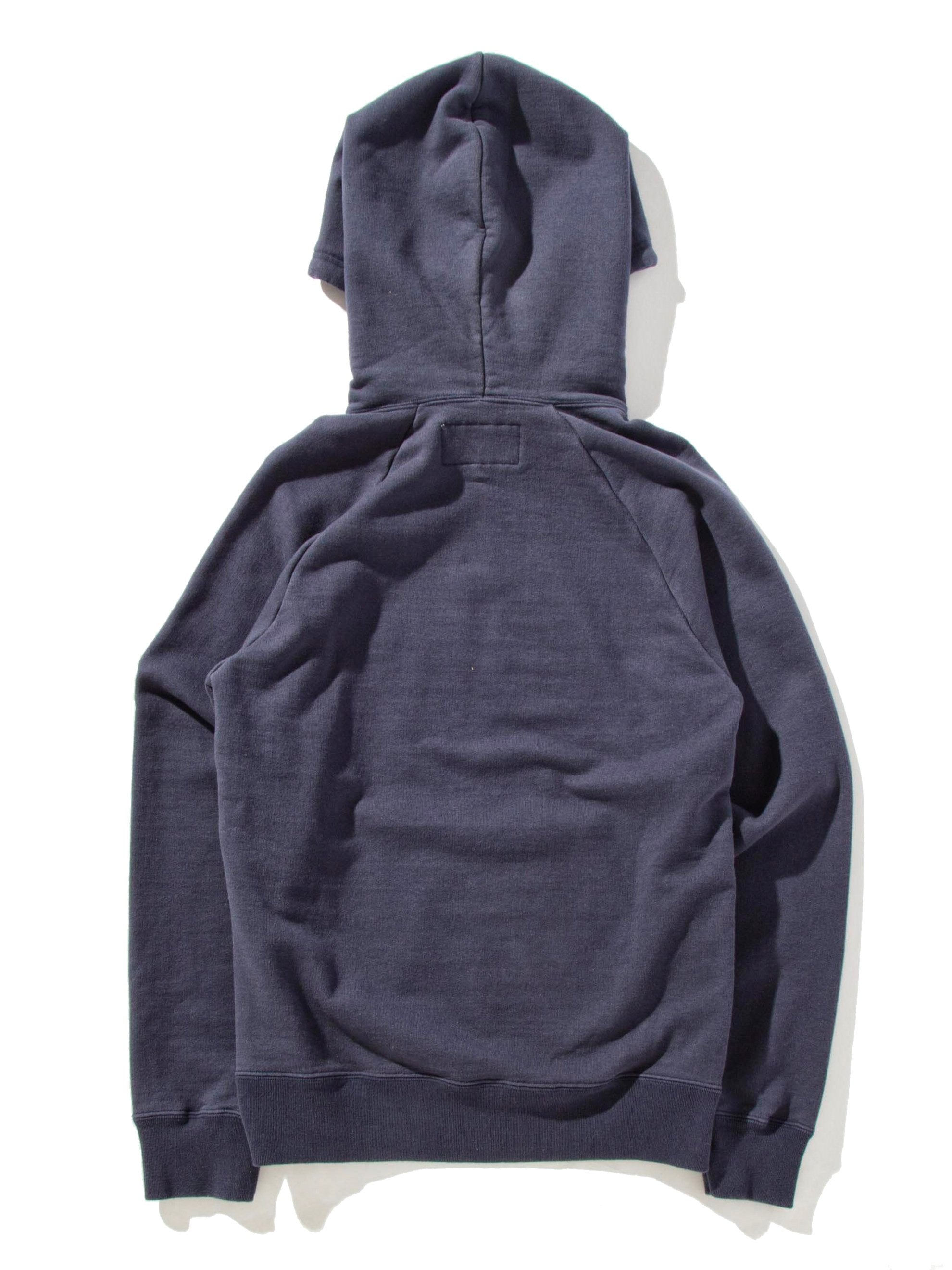 Navy Washed Heavy Weight Pullover Hooded Sweatshirt (Type-3) 10