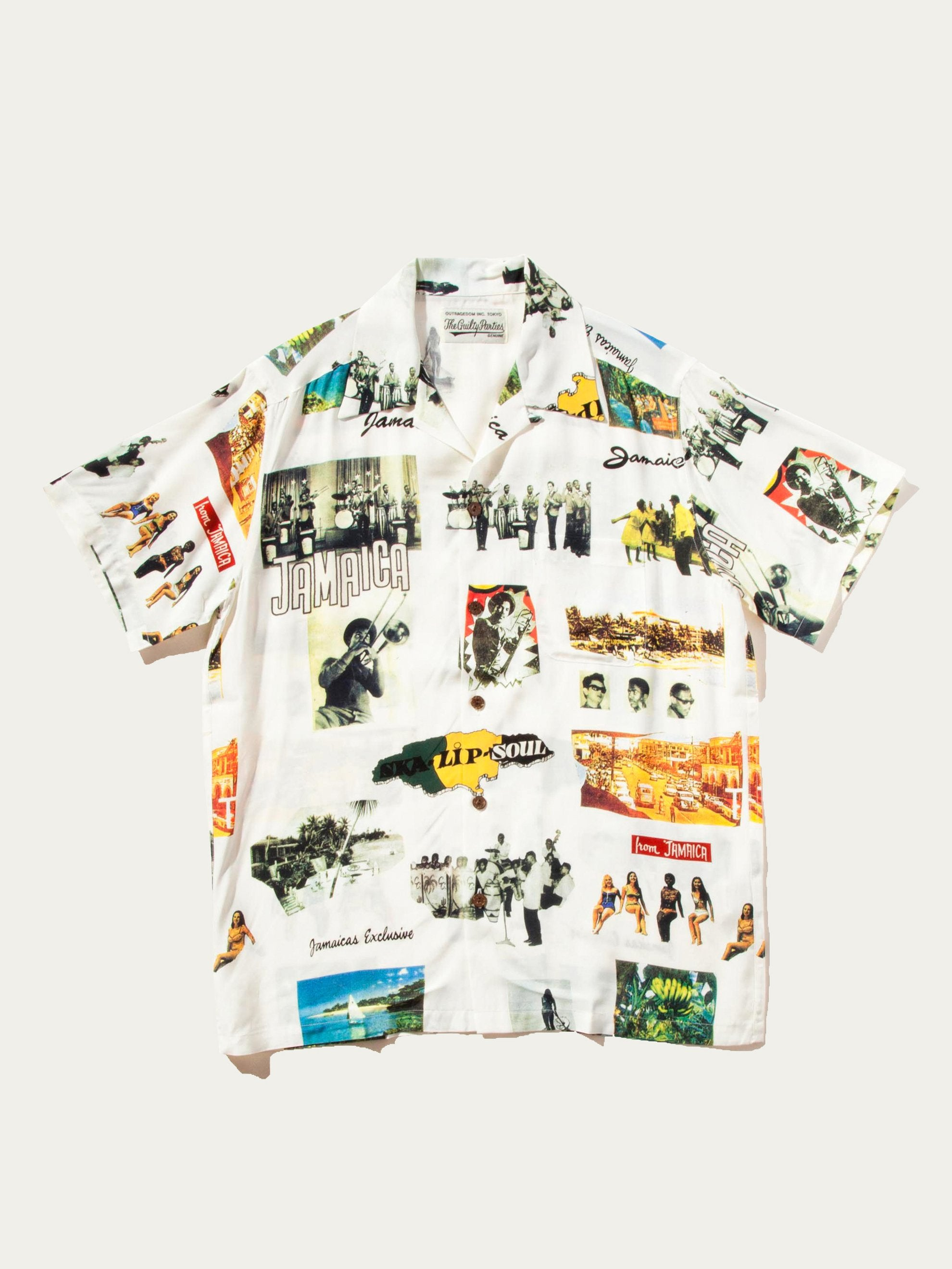 White Kingston Jamaica Hawaiian Shirt 1