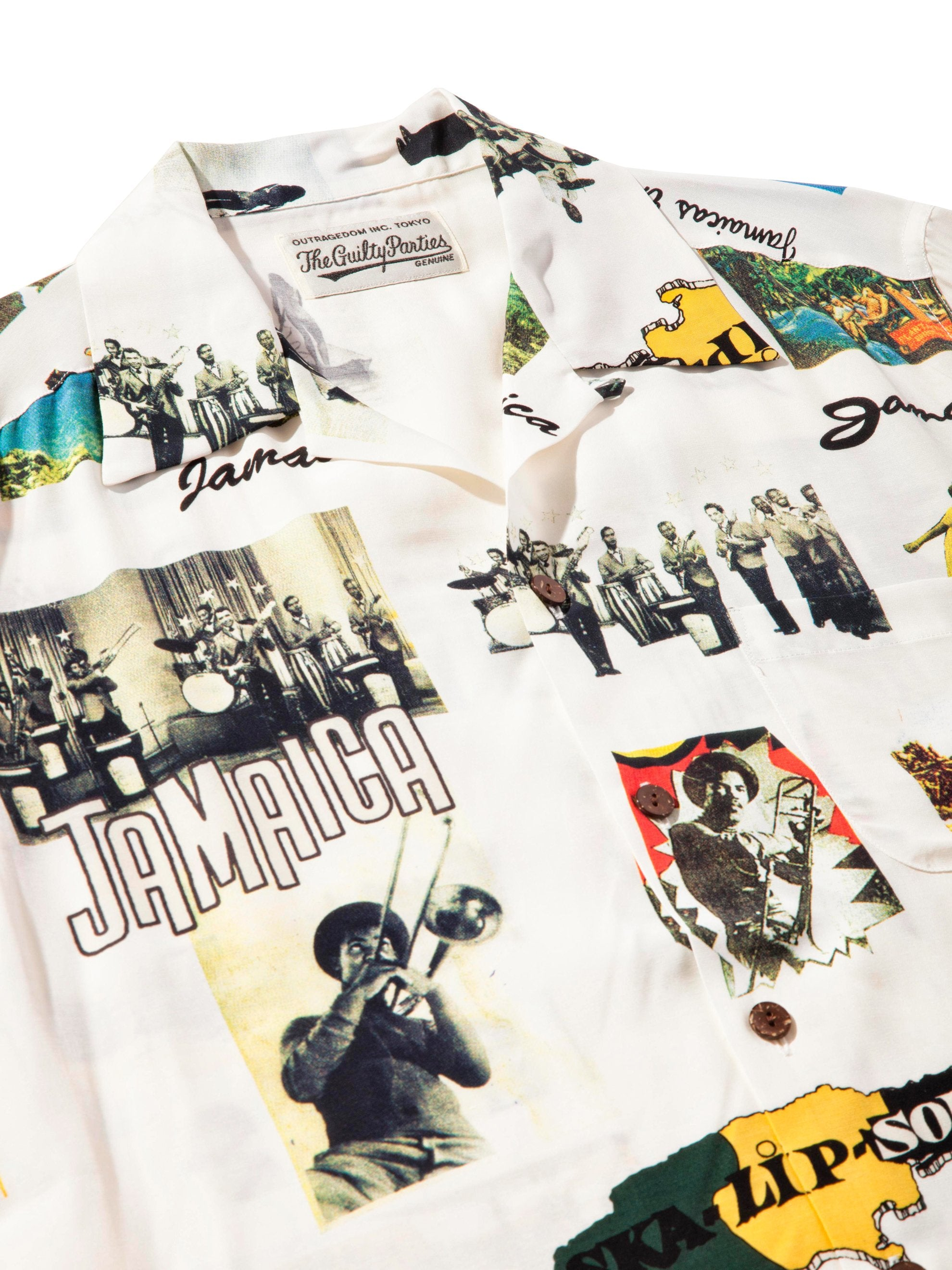 White Kingston Jamaica Hawaiian Shirt 5