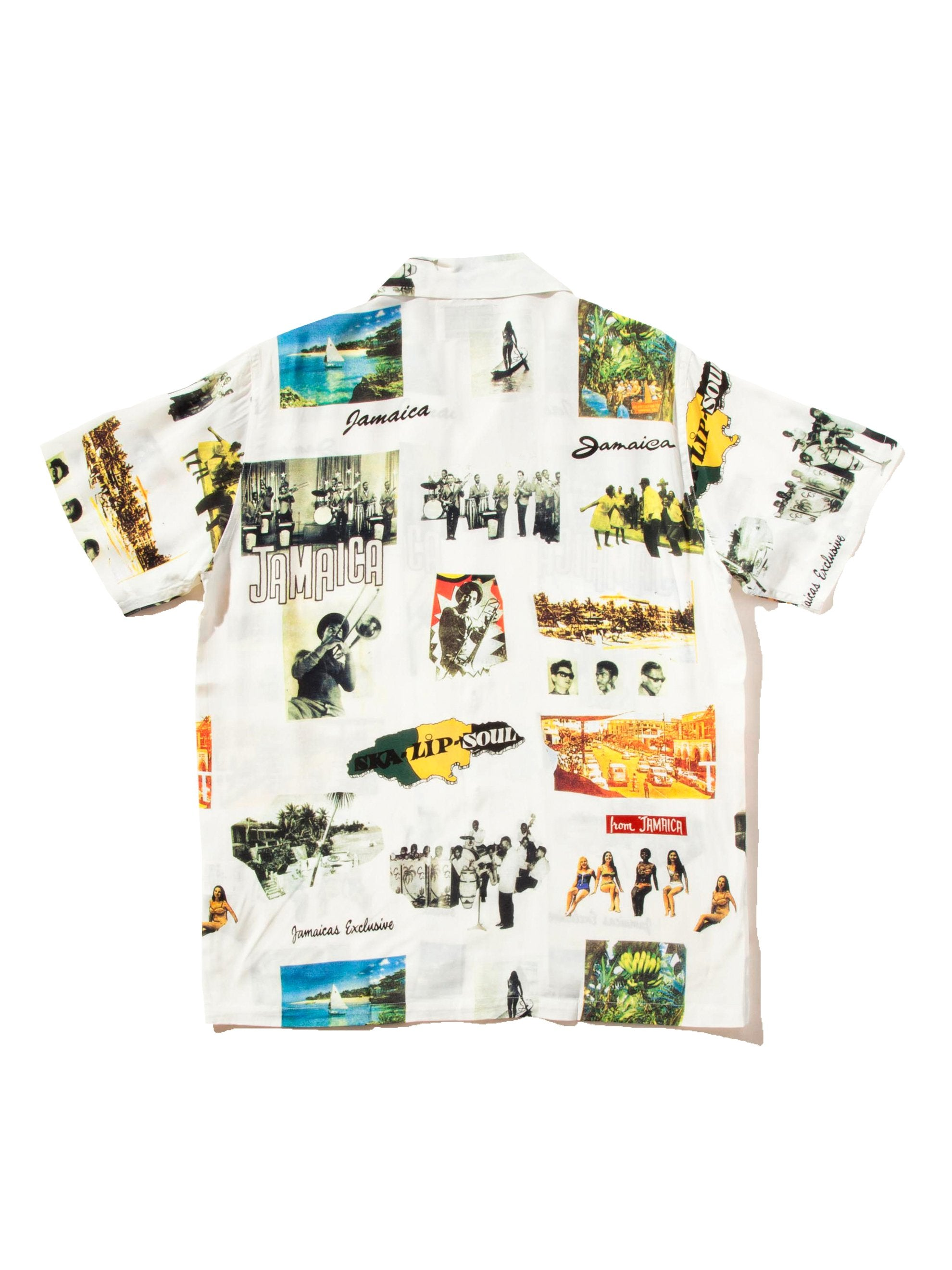White Kingston Jamaica Hawaiian Shirt 7