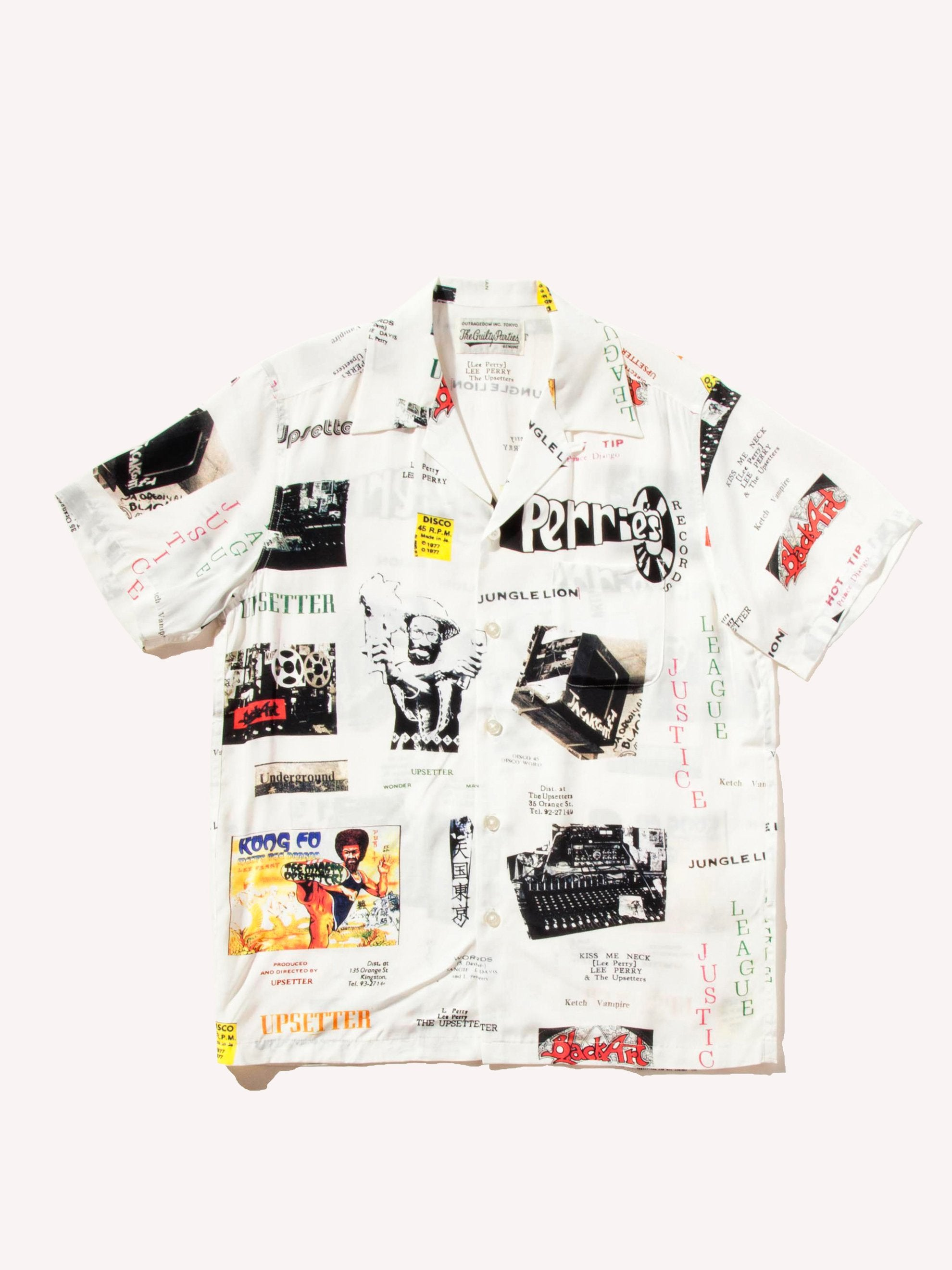 Black Lee Perry Hawaiian Shirt 1
