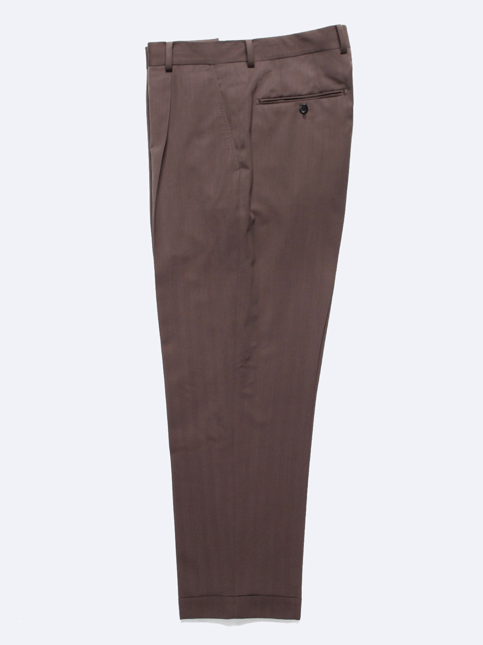 Brown Pleated Trousers (Type-2) 1