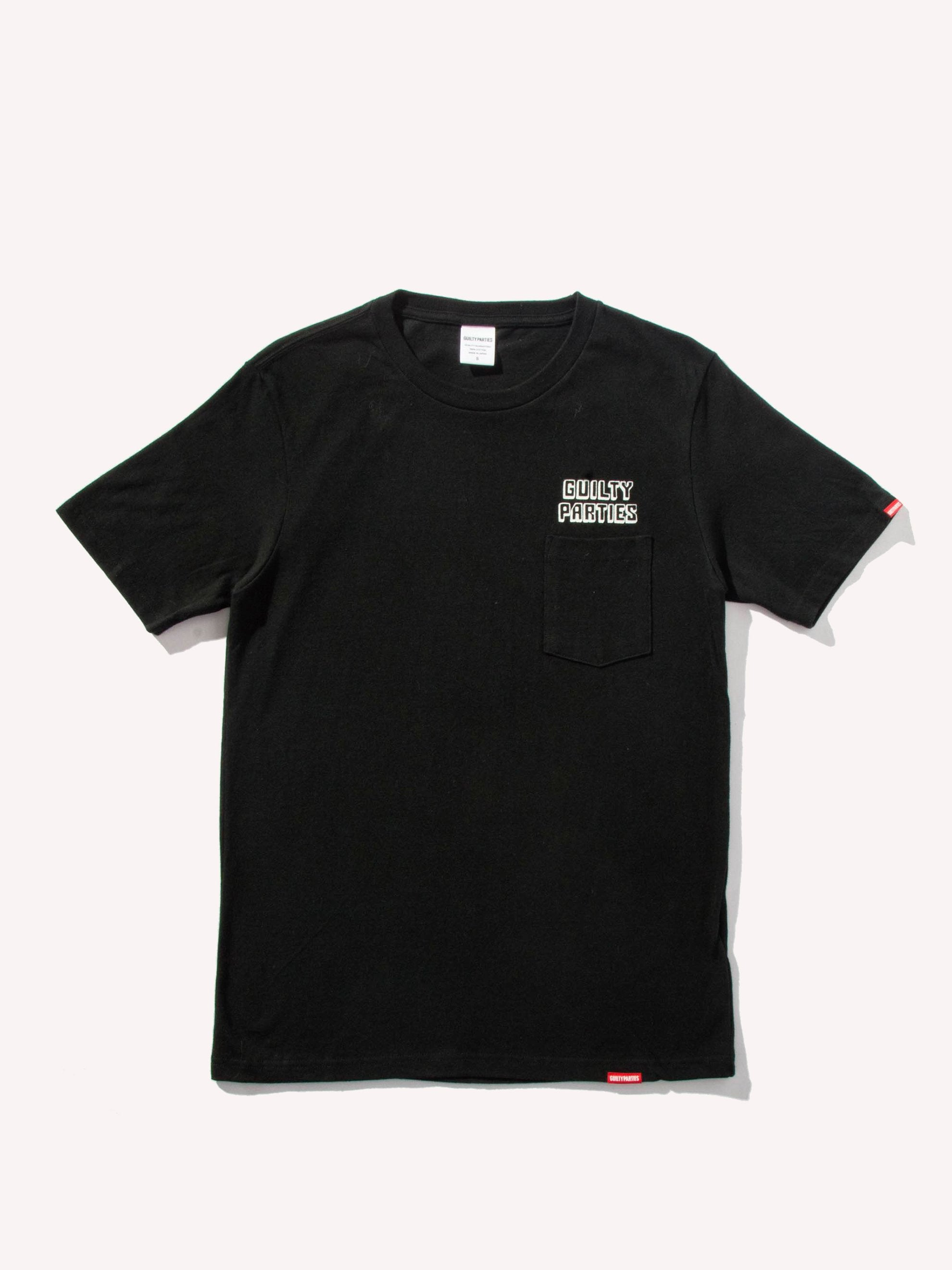 Black Heavy Weight Crew Neck Pocket T-Shirt (Type 1) 1